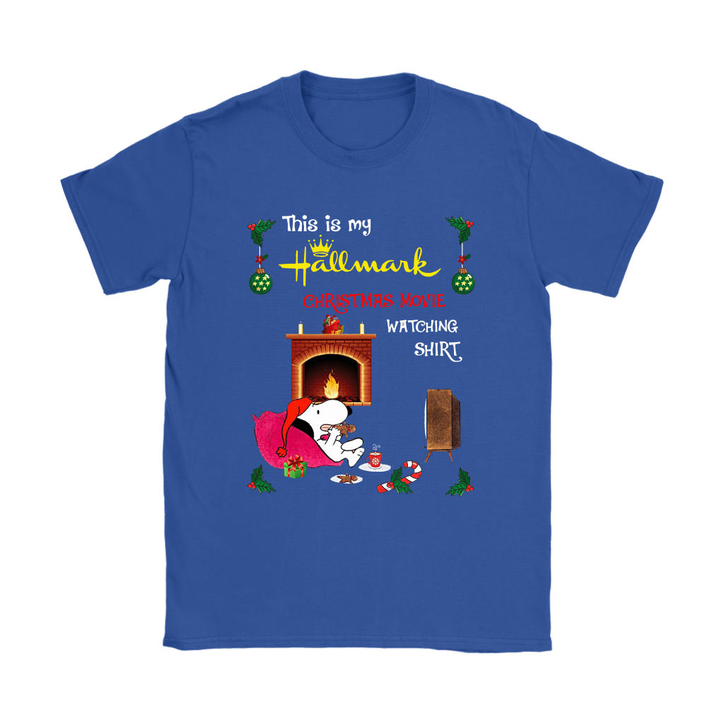 Snoopy This Is My Hallmark Christmas Movie Watching Shirts 11