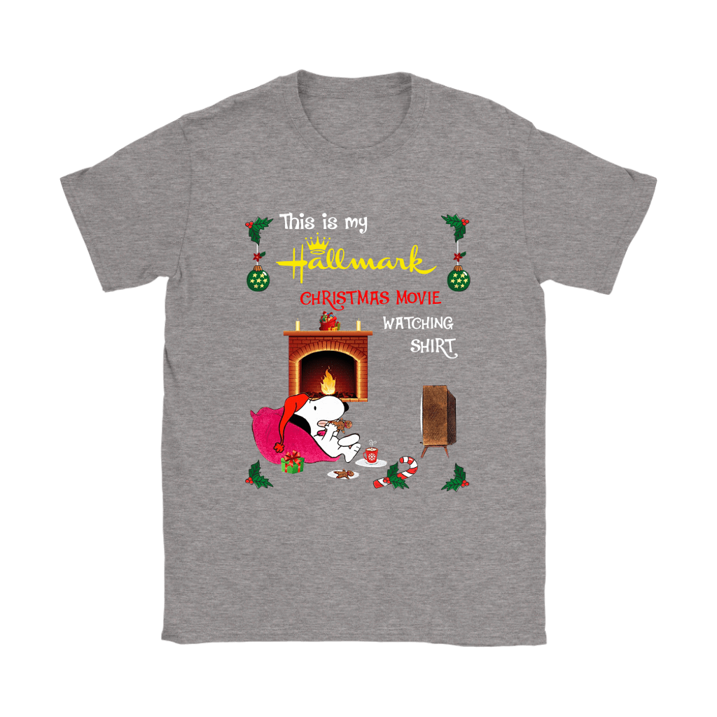 Snoopy This Is My Hallmark Christmas Movie Watching Shirts 12