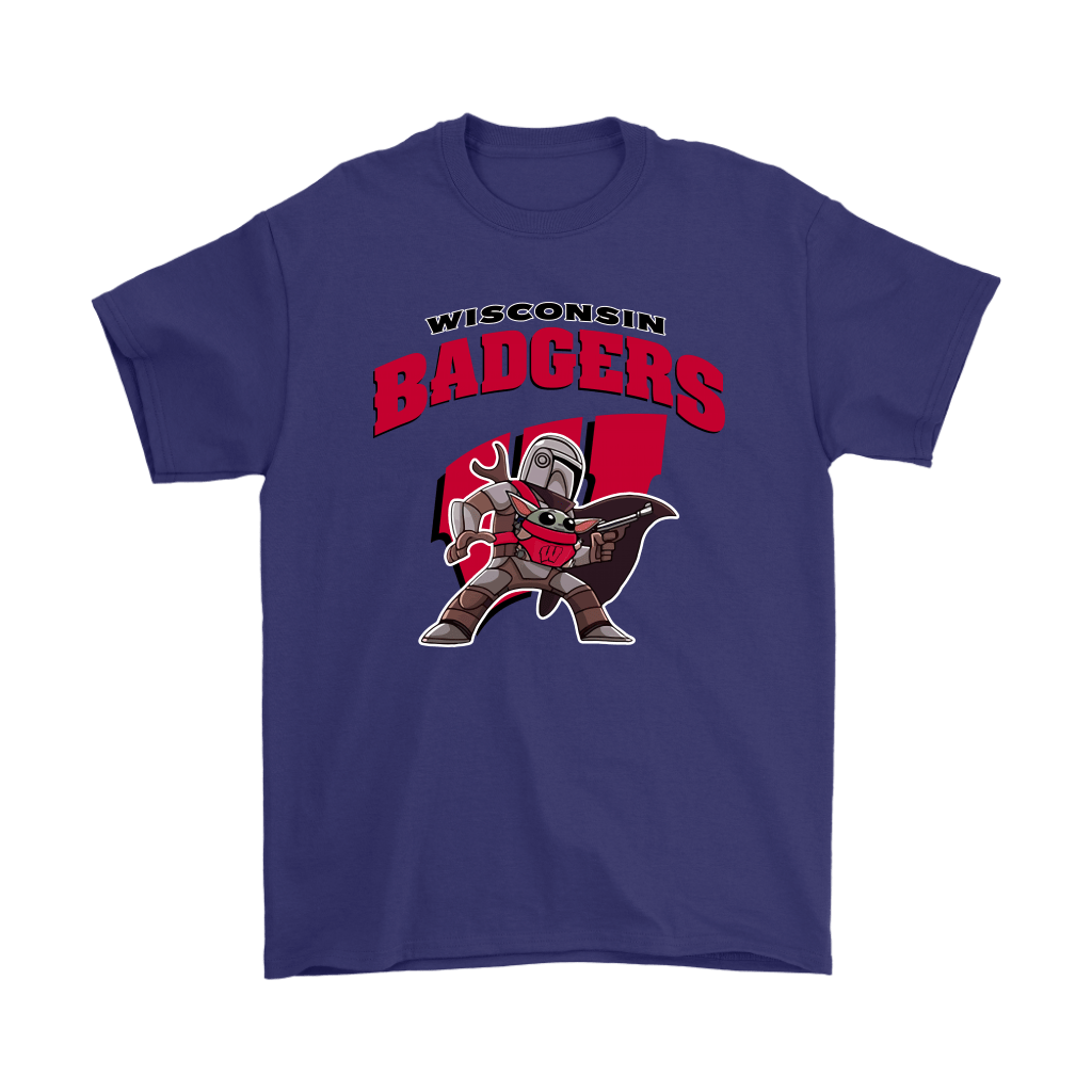 The Mandalorian & Baby Yoda Wisconsin Badgers NCAA Shirts 4