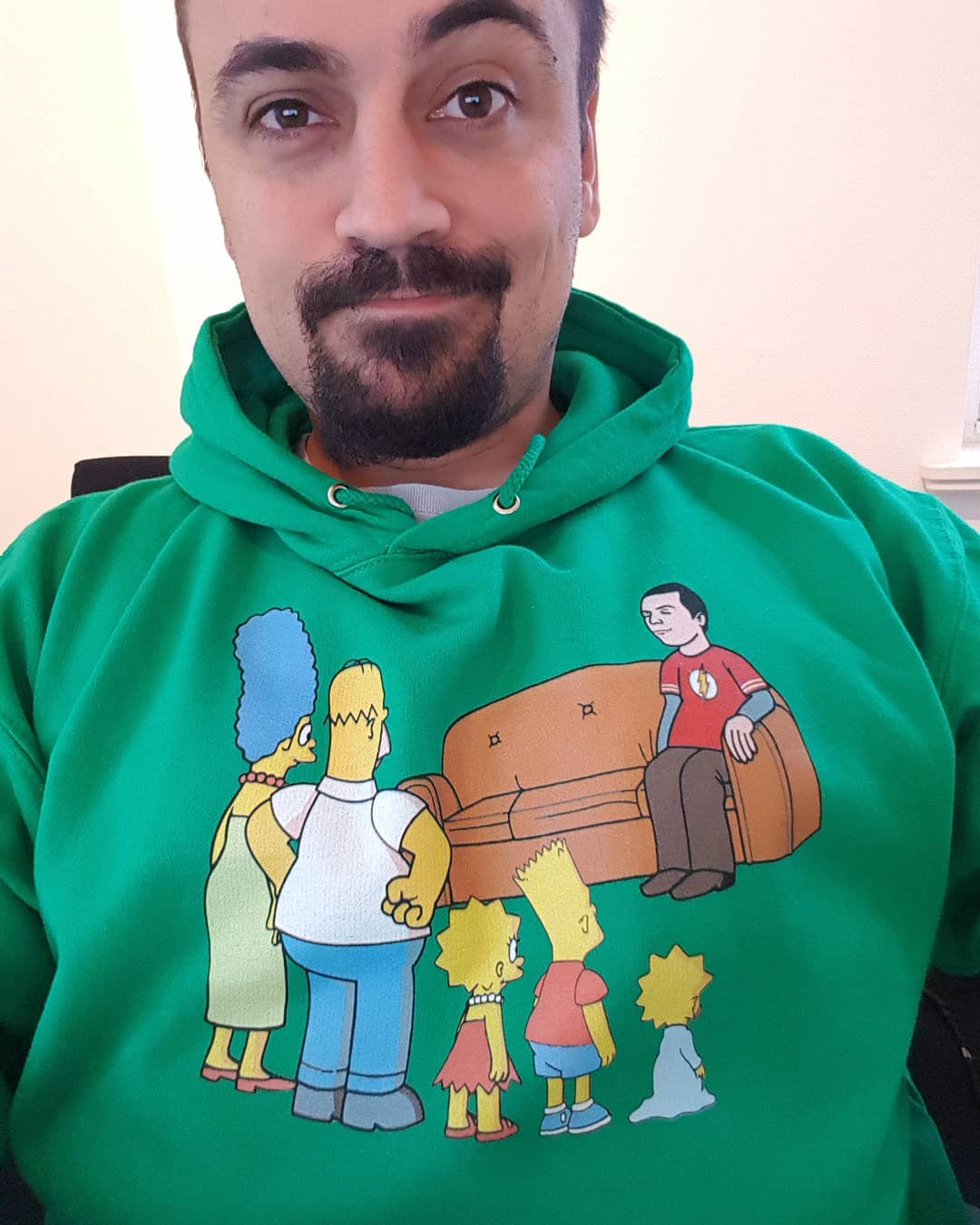 The Simpsons Family And Sheldon Cooper Mashup Shirts photo review
