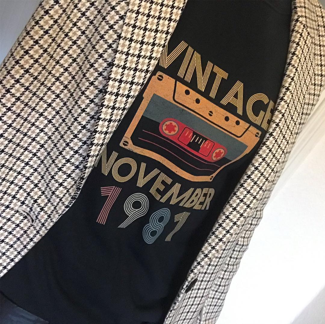 Vintage November 1981 Cassette Tape Birthday Shirts photo review