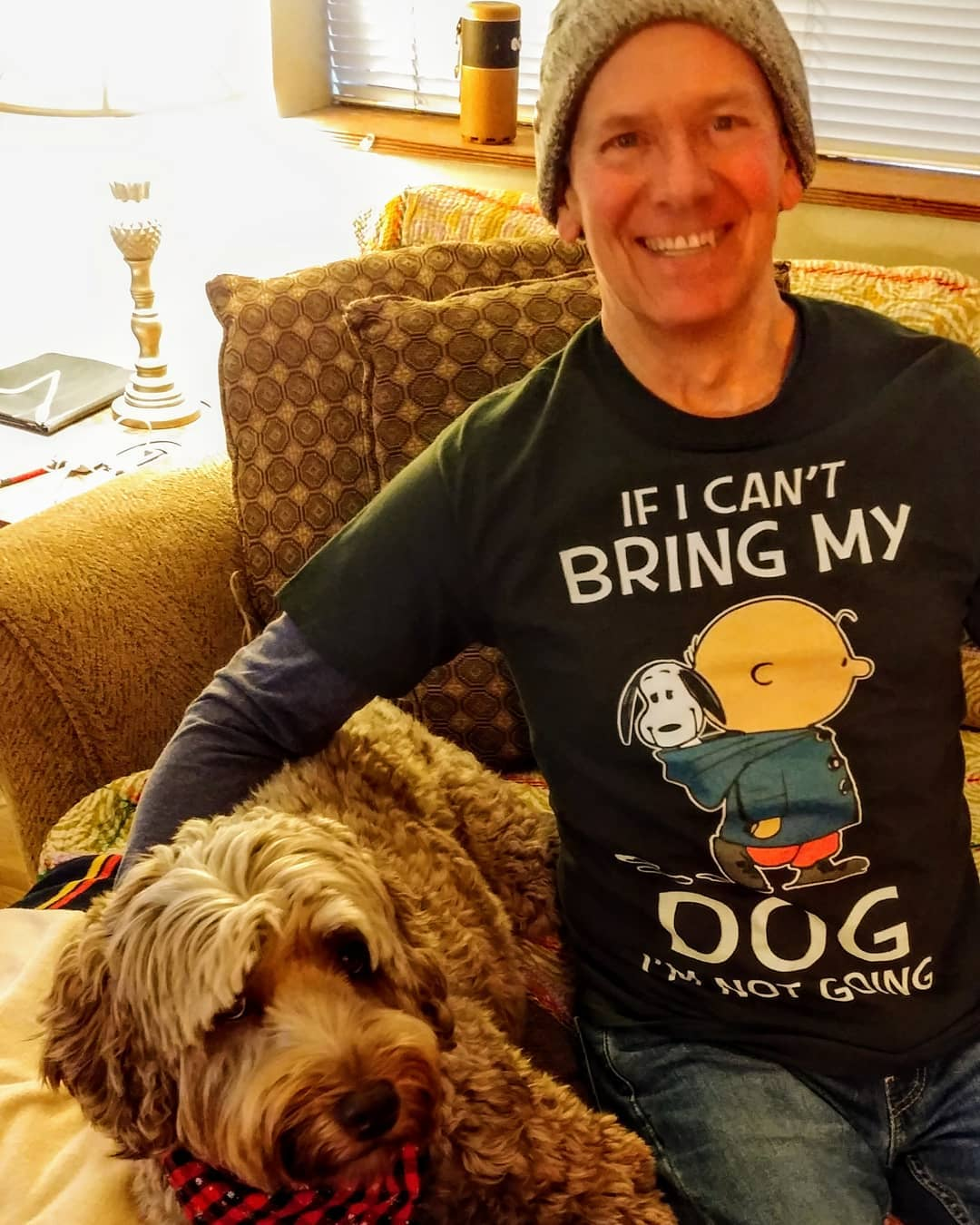 Charlie And Snoopy If I Can't Bring My Dog I'm Not Going Shirts photo review