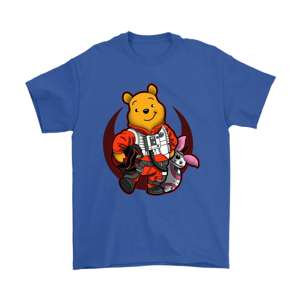 Winnie The Pooh And Piglet As Luke And BB-8 Star Wars Shirts 18