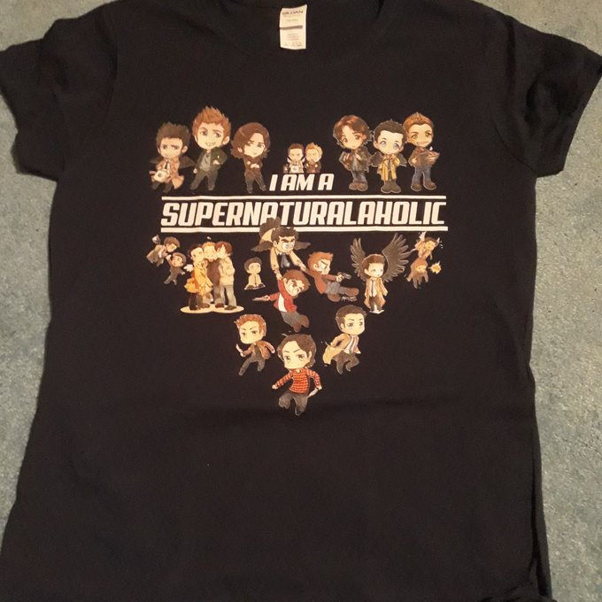 I Am A Supernaturalaholic Supernatural Cute Cartoon Shirts photo review