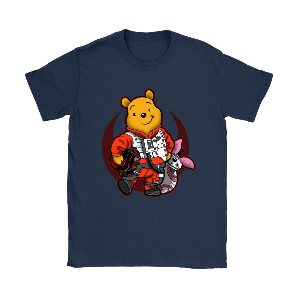 Winnie The Pooh And Piglet As Luke And BB-8 Star Wars Shirts 23