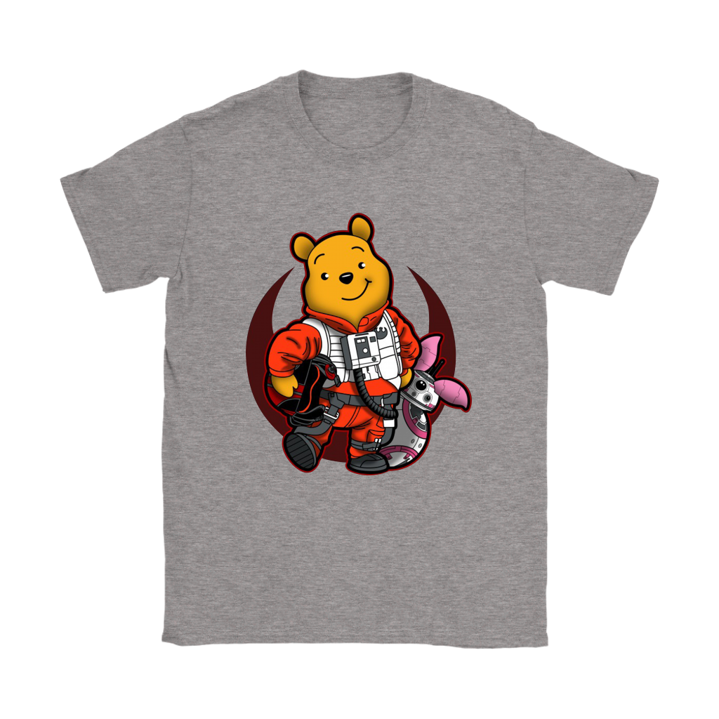 Winnie The Pooh And Piglet As Luke And BB-8 Star Wars Shirts 26