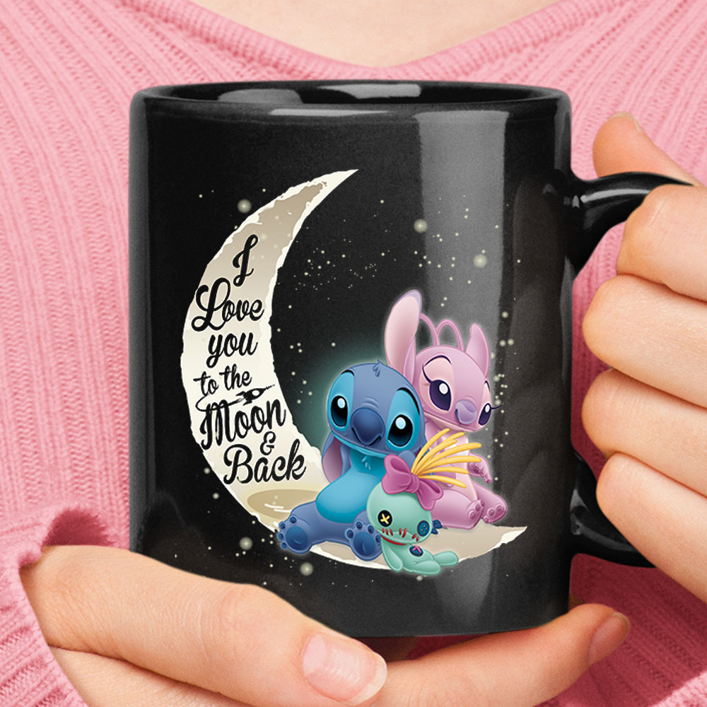 Stitch And Angel I Love You To The Moon And Back Mug 1