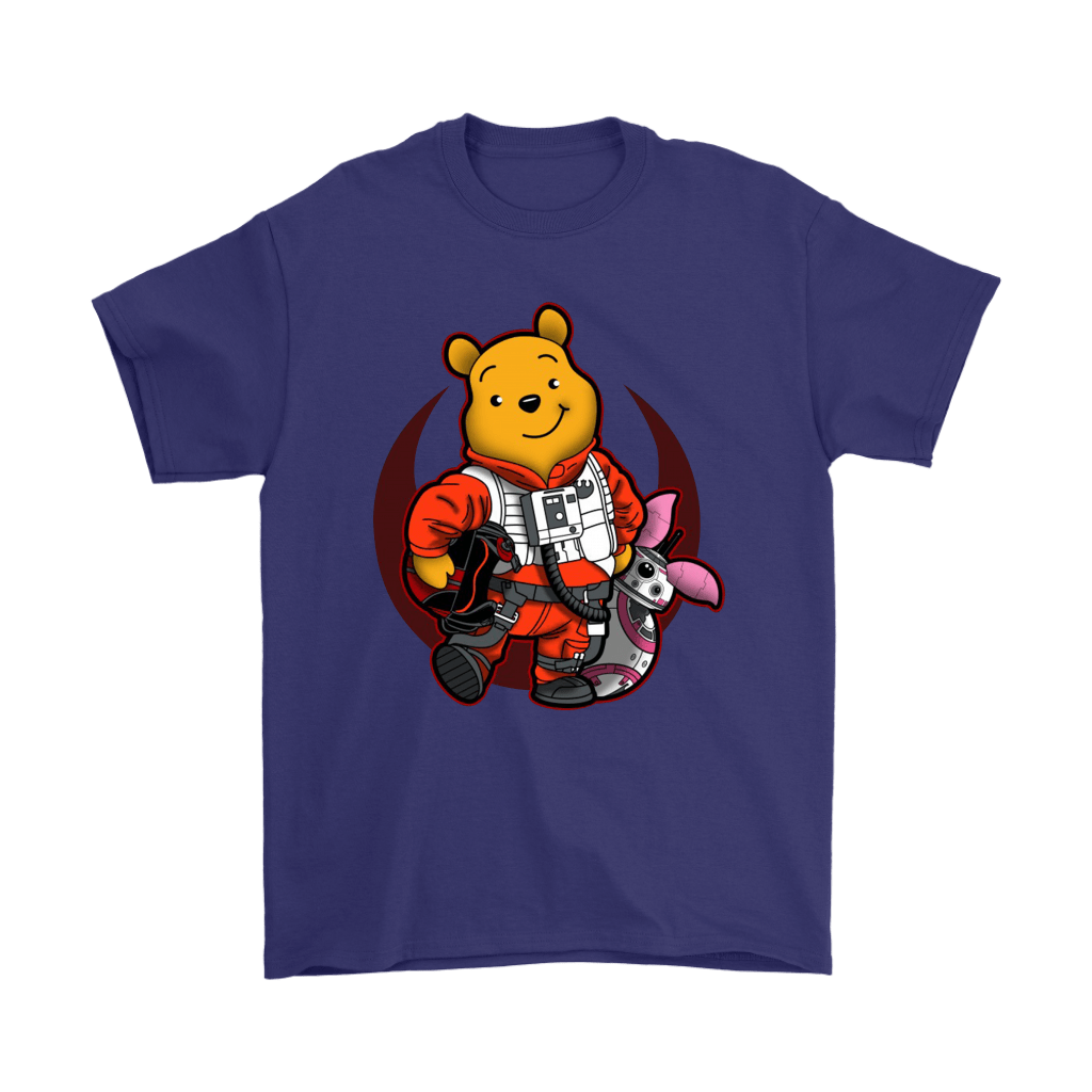 Winnie The Pooh And Piglet As Luke And BB-8 Star Wars Shirts 17