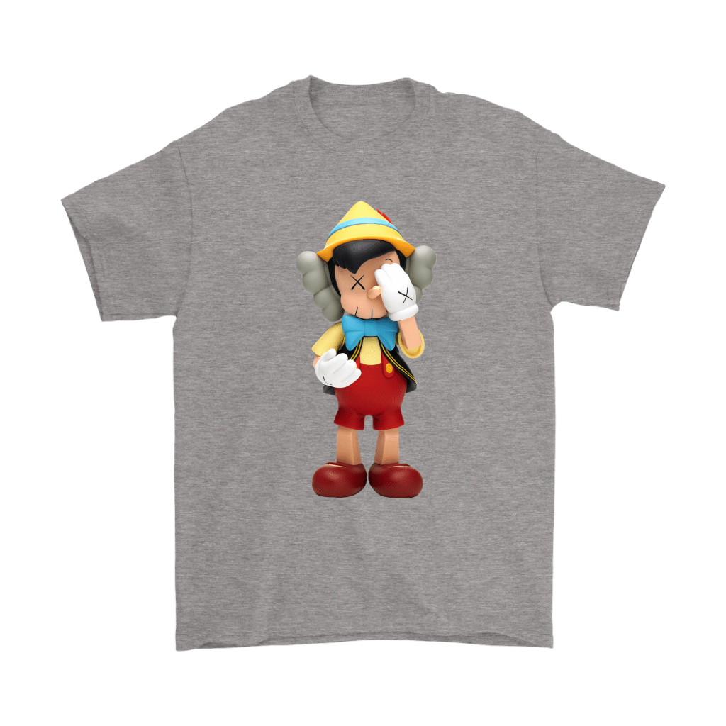Pinocchio KAWS Touchs His Face Shirts 5