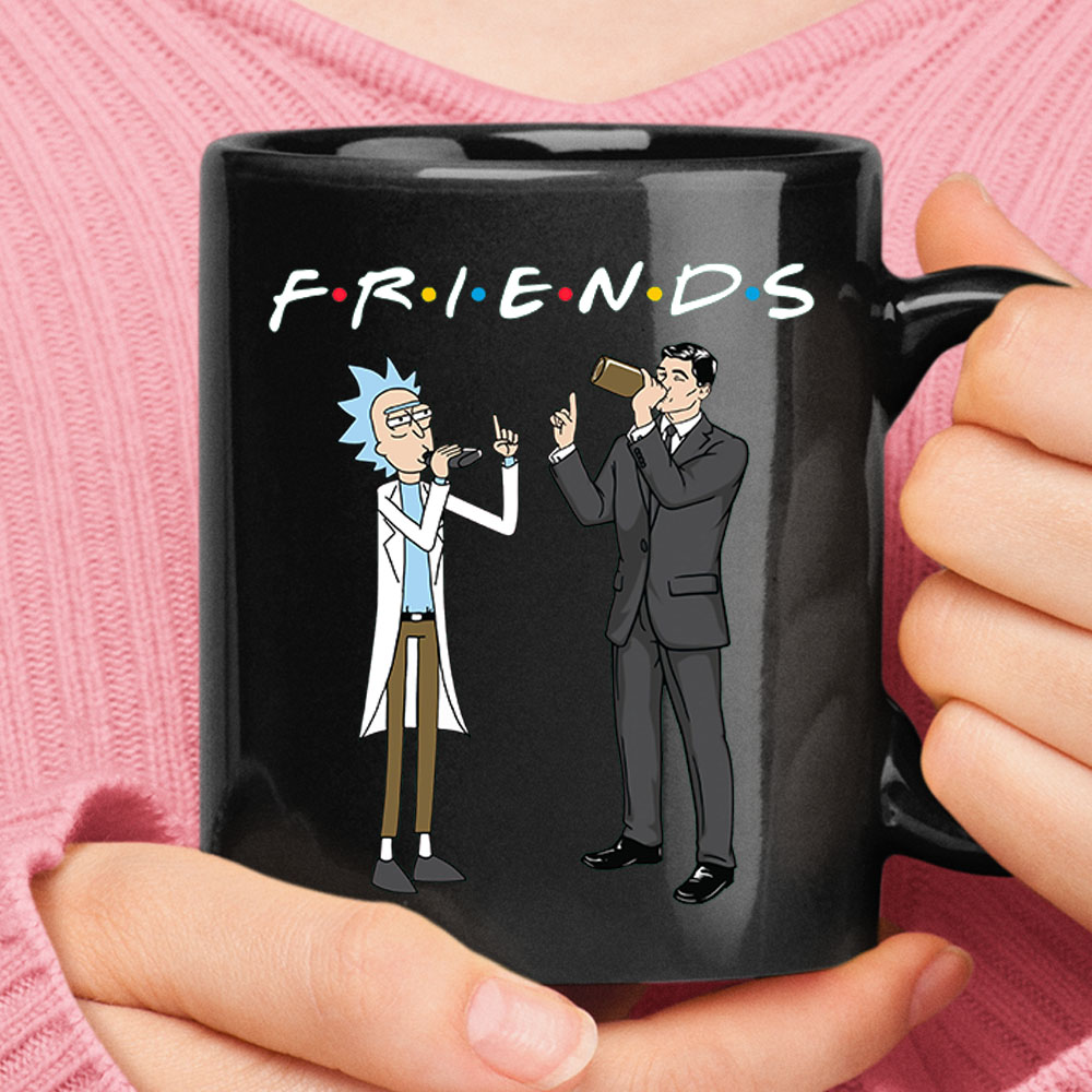 F.R.I.E.N.D.S Rick Sanchez And Sterling Archer Mug 1