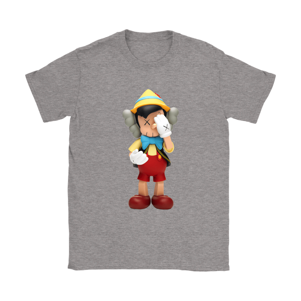 Pinocchio KAWS Touchs His Face Shirts 12