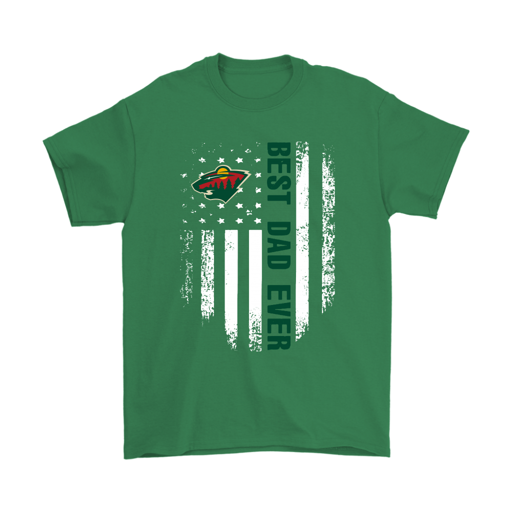 American Flag Best Dad Ever The Minnesota Wild Father Shirts 6
