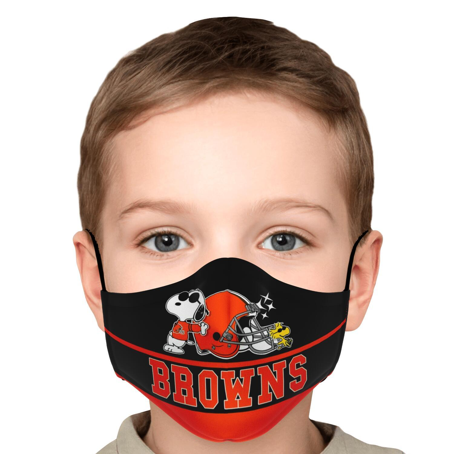 Snoopy Joe Cool Cleveland Browns Face Mask 3