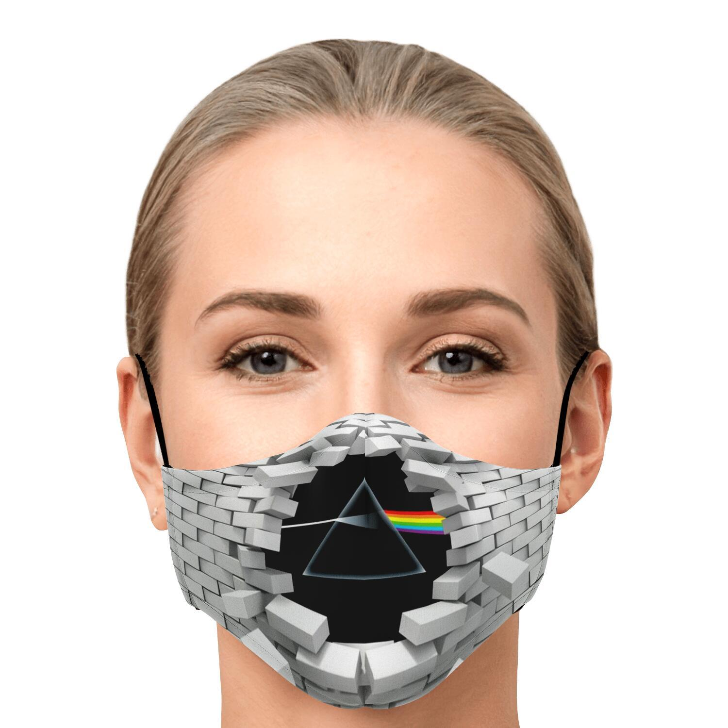 Pink Floyd The Wall Dark Side Of The Moon Face Mask 1