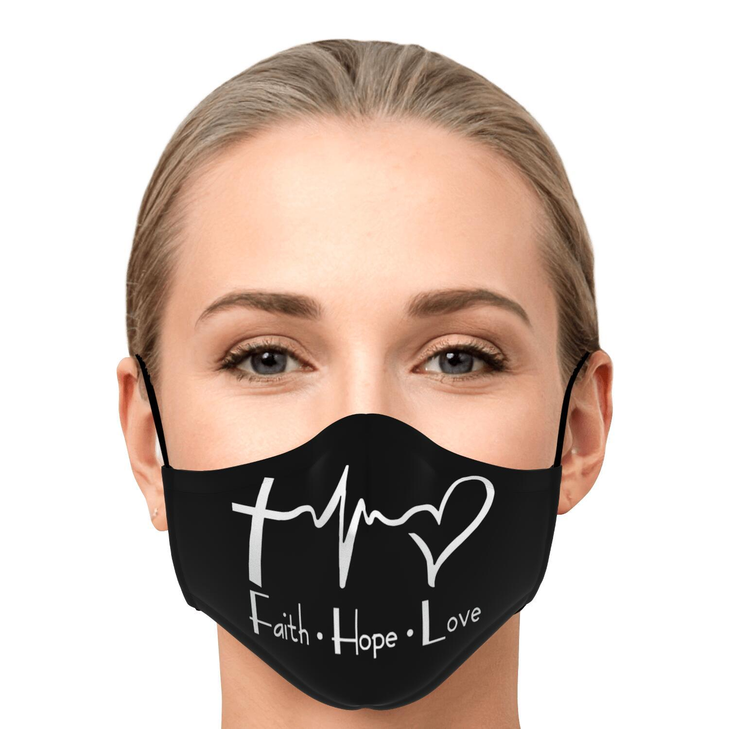 Faith Hope And Love Face Mask 1