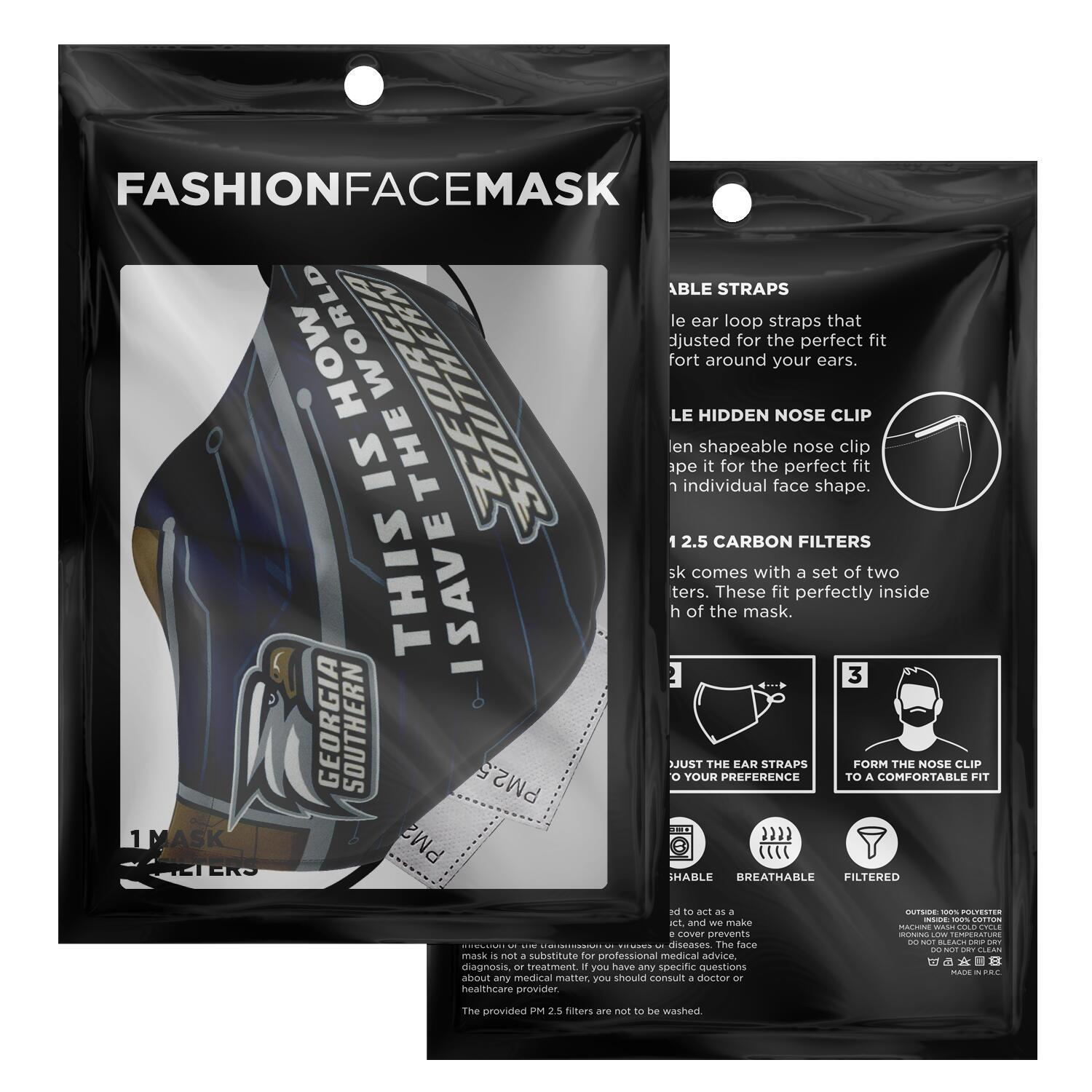 This Is How I Save The World Georgia Southern Eagles Face Masks 2