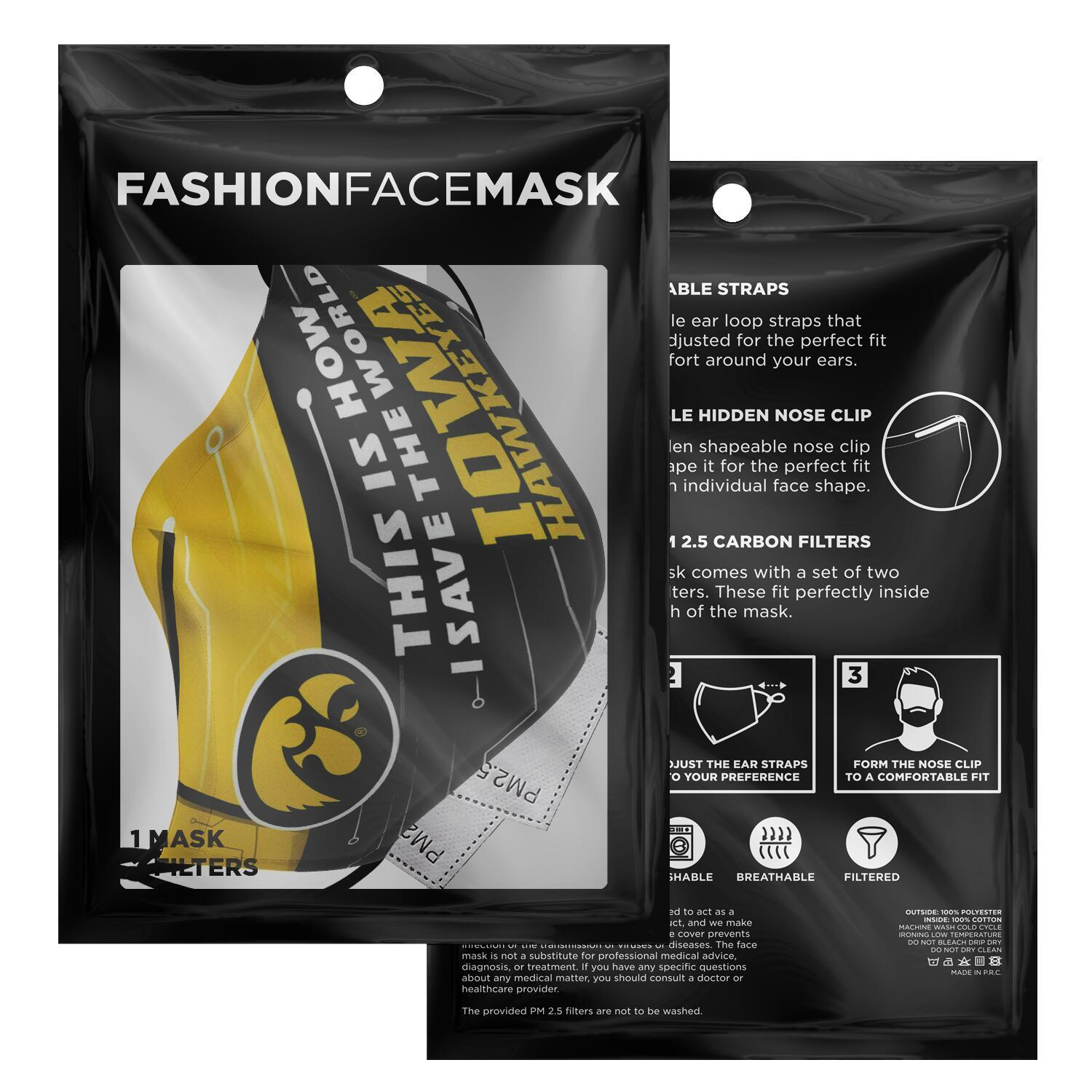 This Is How I Save The World Iowa Hawkeyes Face Masks 2