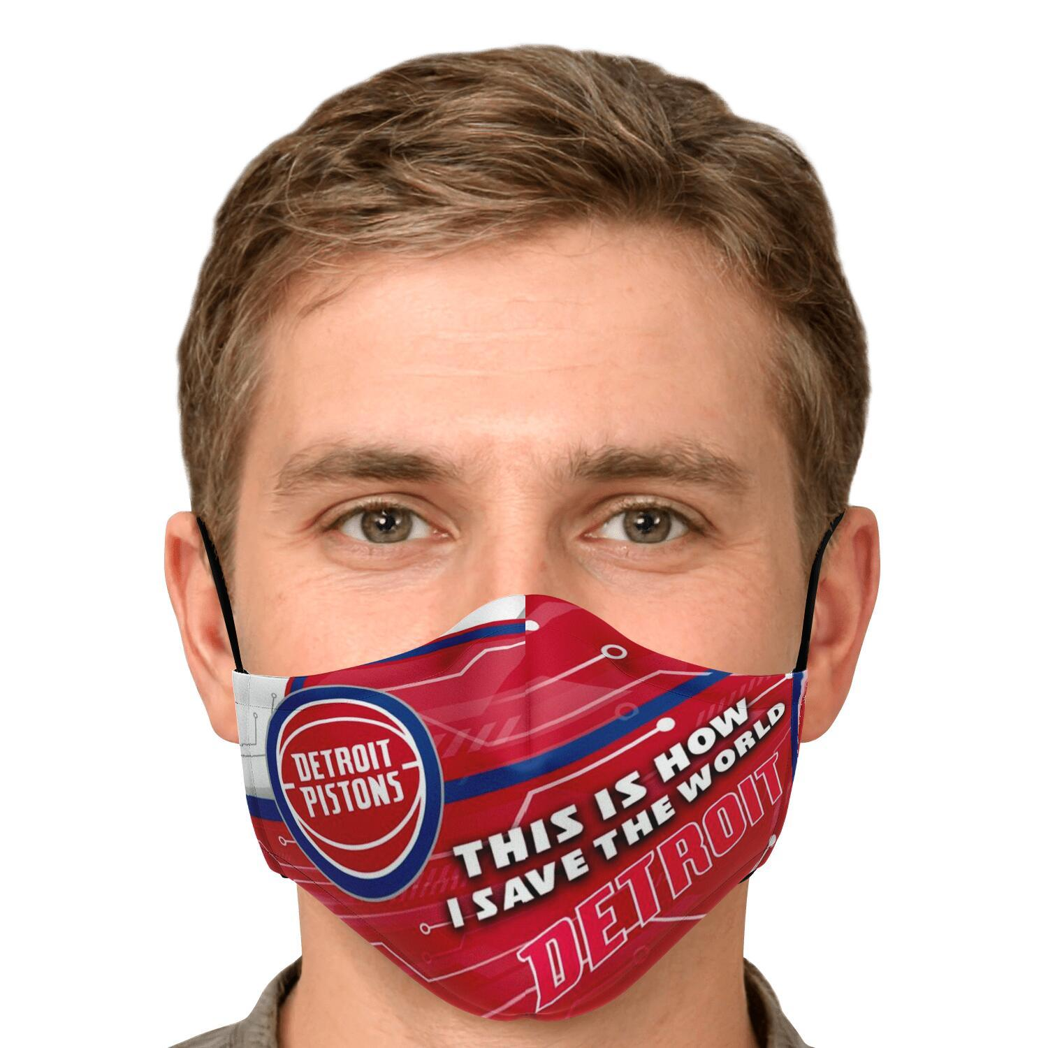 This Is How I Save The World Detroit Pistons Face Masks 4