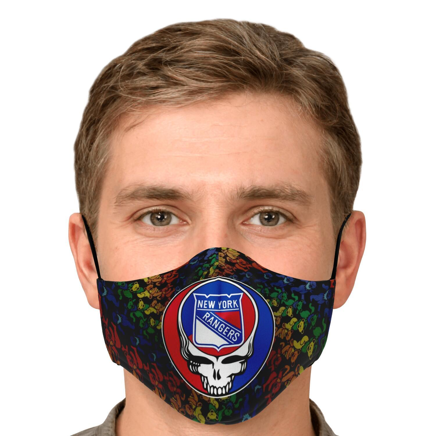 Steal Your Face Grateful Dead New York Rangers Face Mask 4