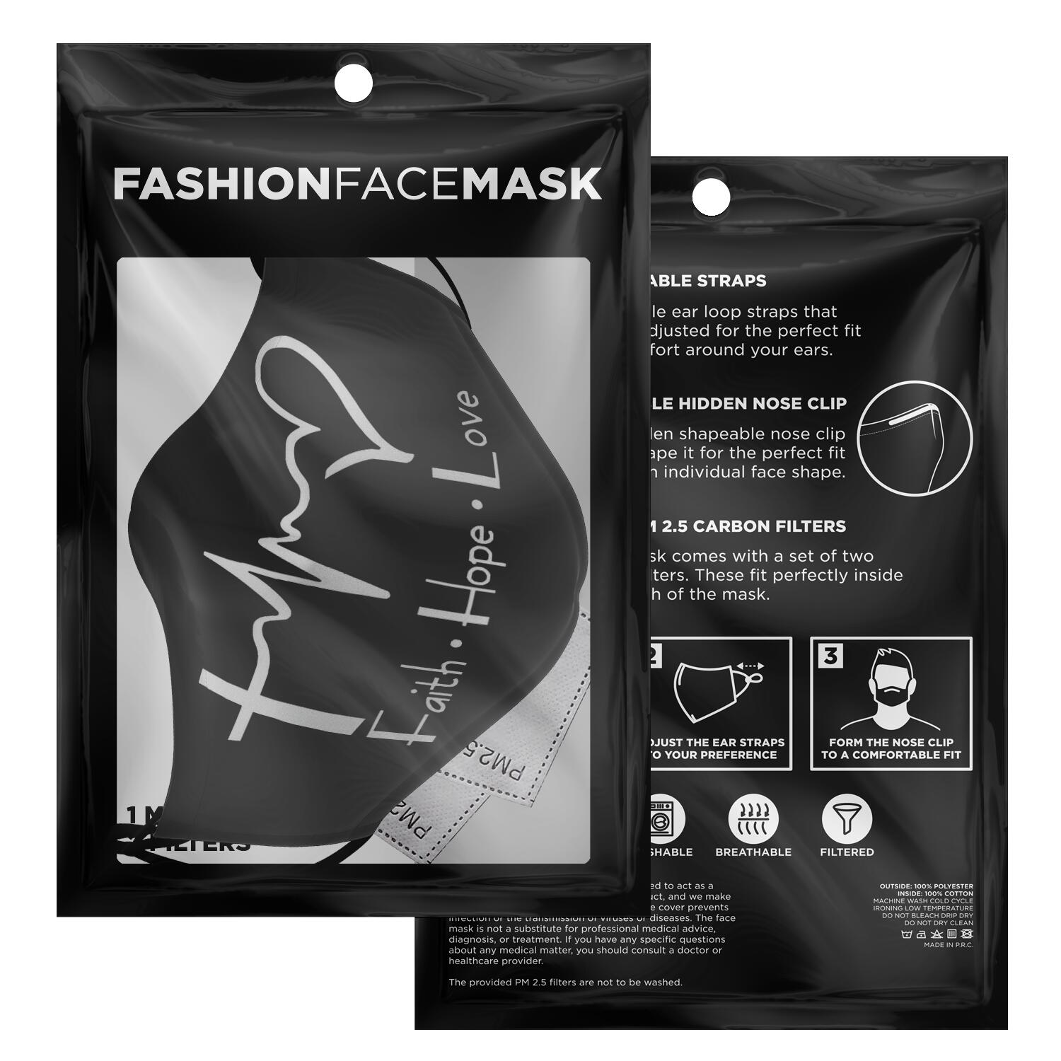 Faith Hope And Love Face Mask 2