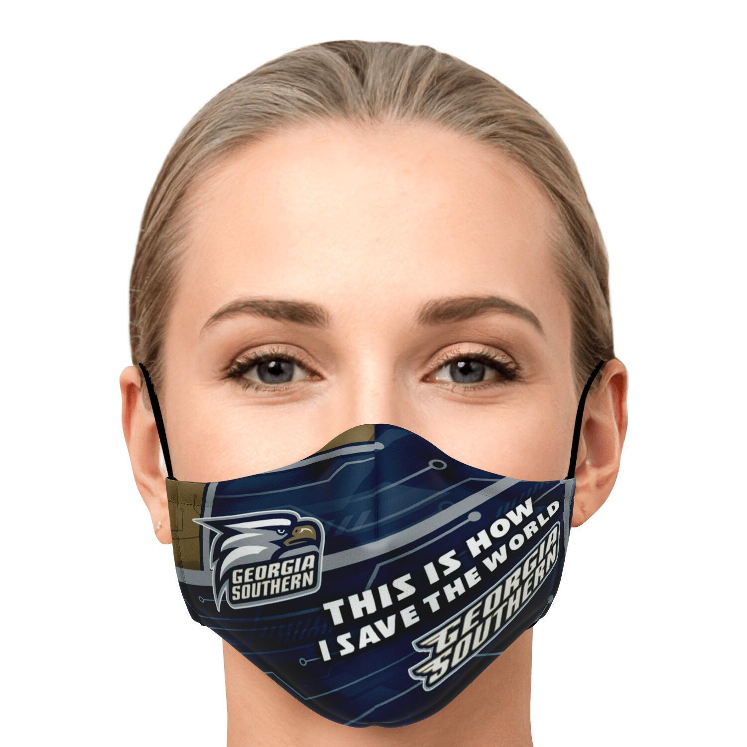 This Is How I Save The World Georgia Southern Eagles Face Masks 1