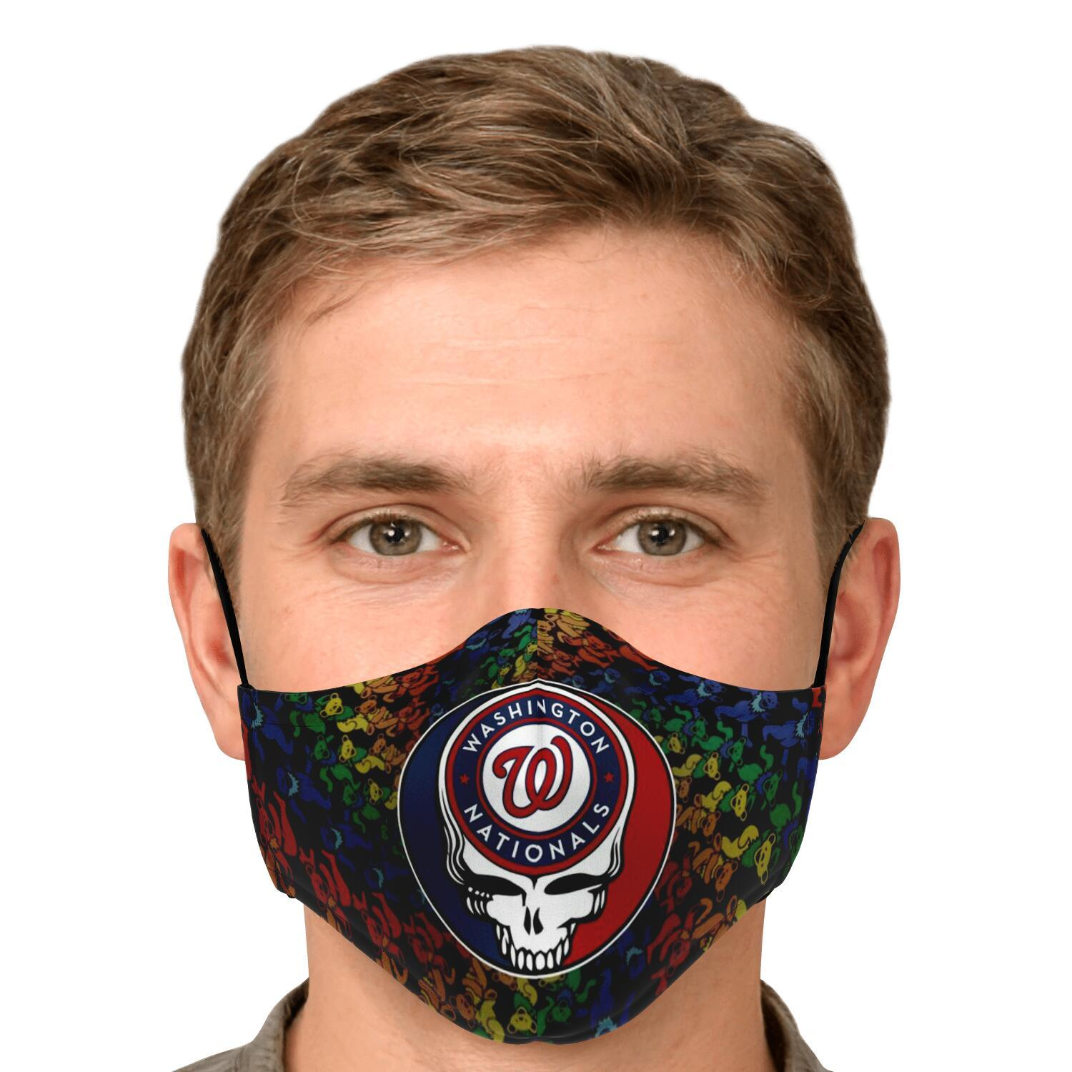 Steal Your Face Grateful Dead Washington Nationals Face Mask 4