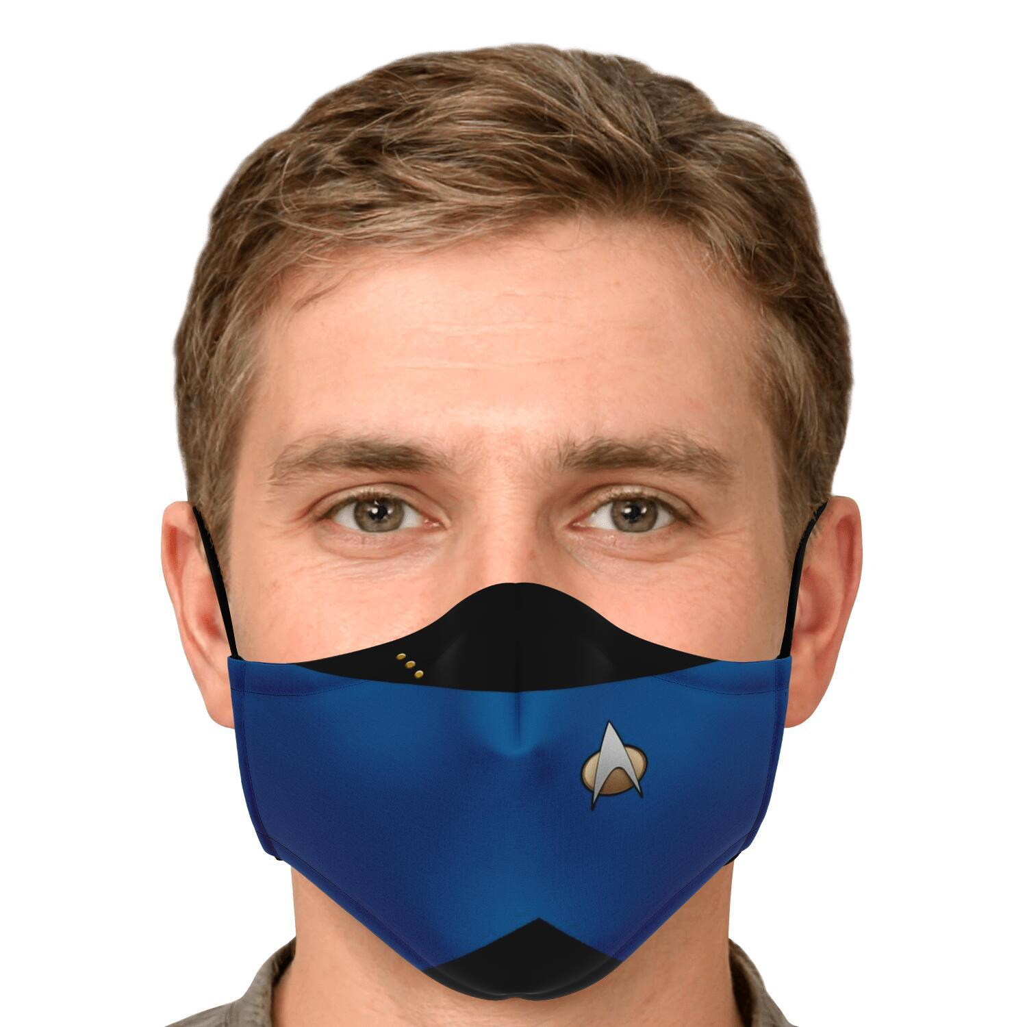 Star Trek Blue Shirt Face Mask 4