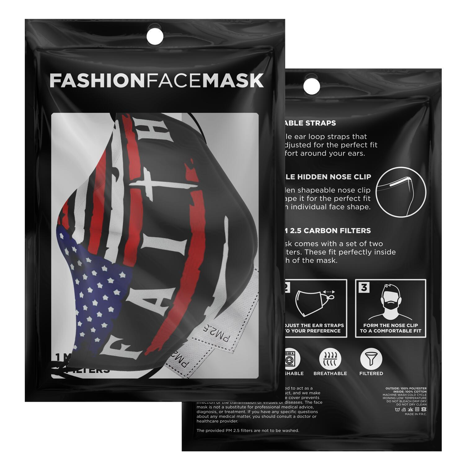 American Flag Faith Face Mask 2