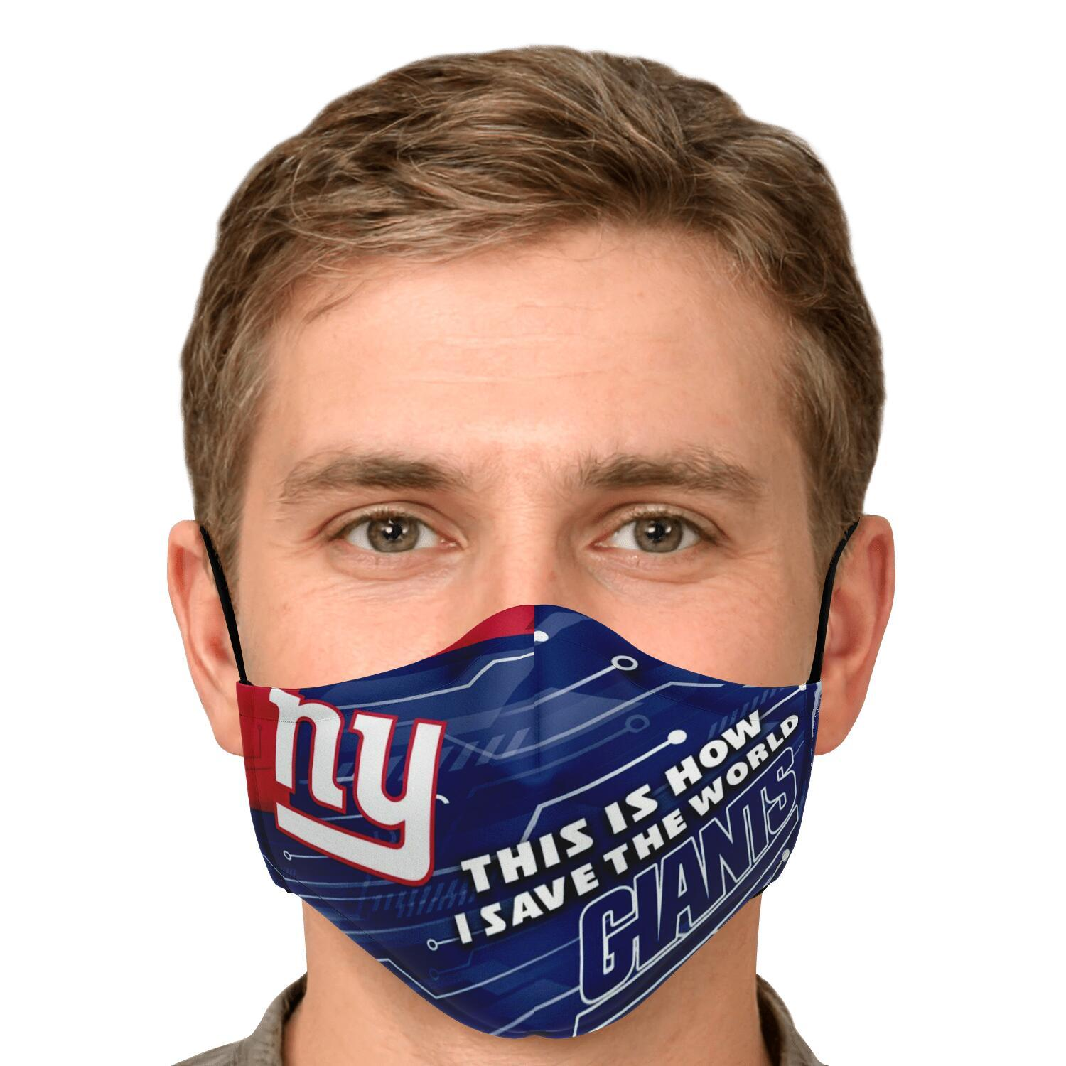 This Is How I Save The World New York Giants Face Masks 4