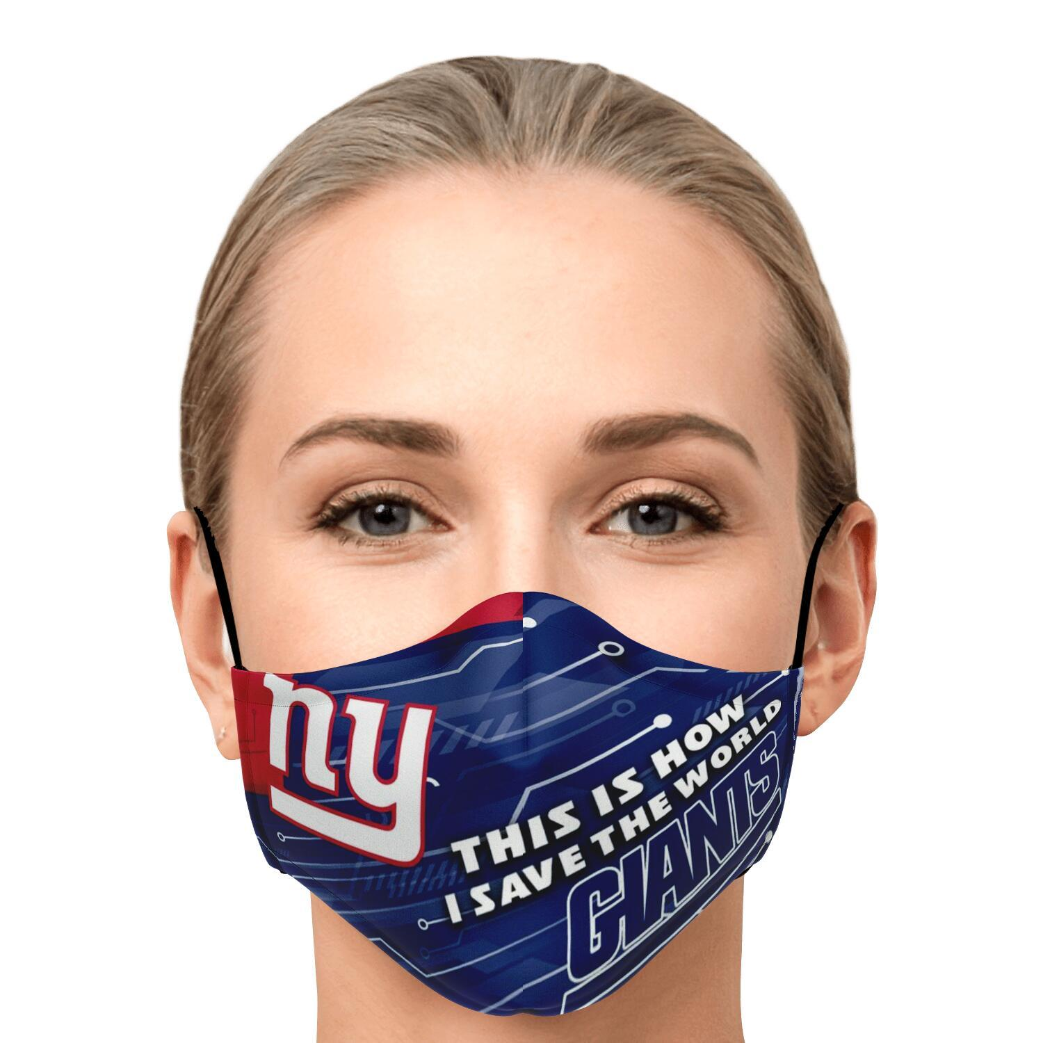 This Is How I Save The World New York Giants Face Masks 1