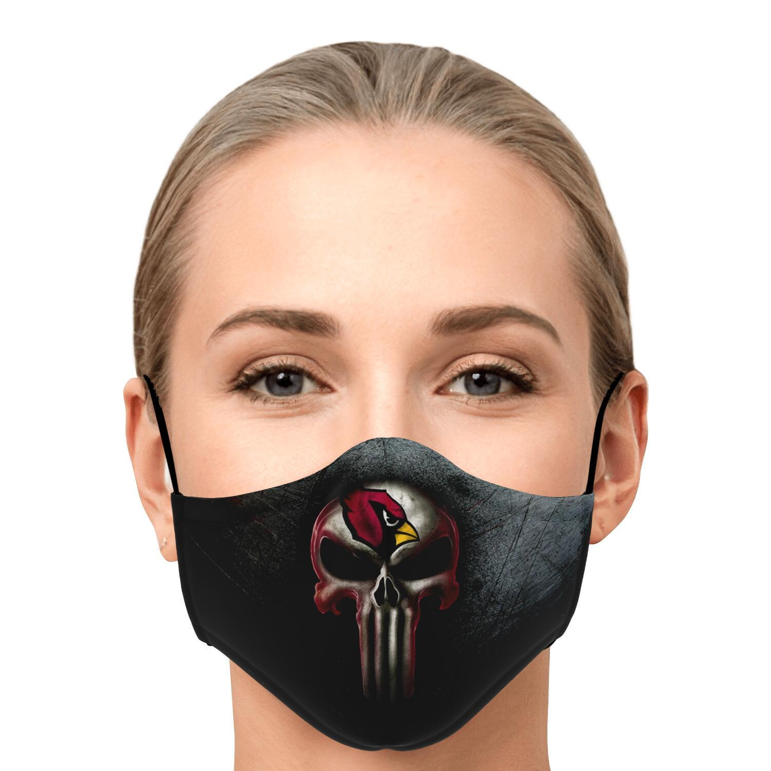 Arizona Cardinals The Punisher Mashup Face Mask 1