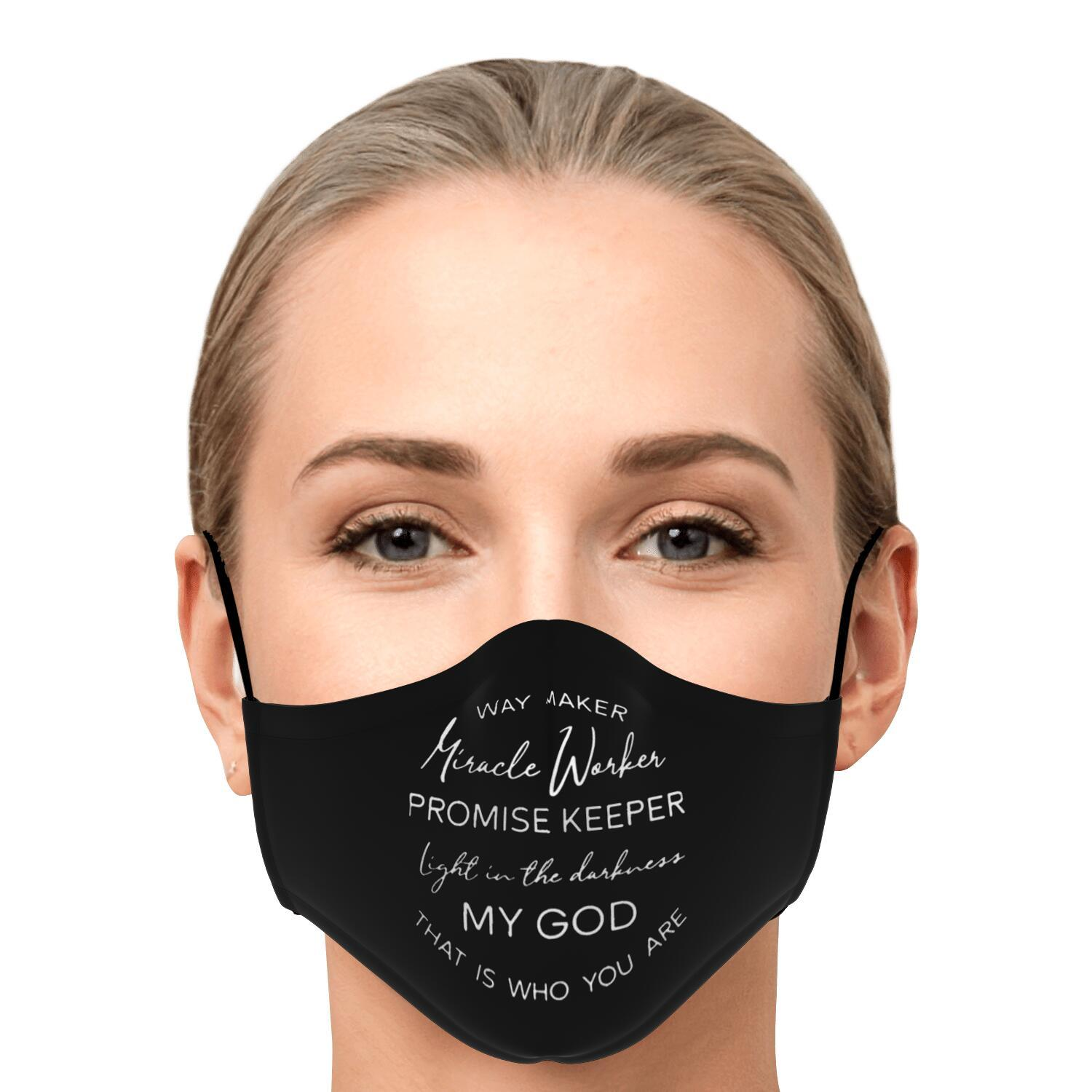 Way Maker Miracle Workers Promise Keeper Face Mask 1