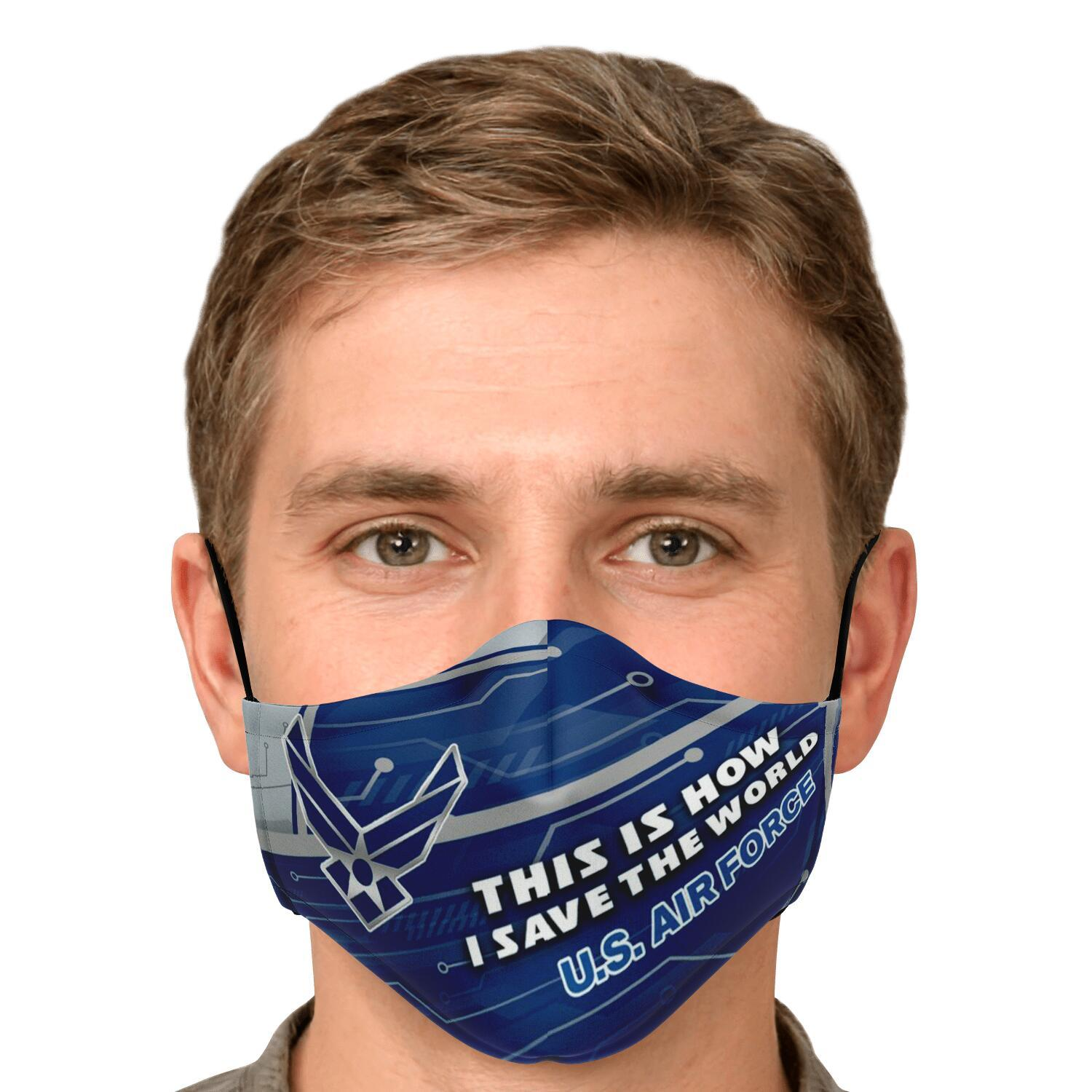 This Is How I Save The World U.S. Air Force Face Masks 4