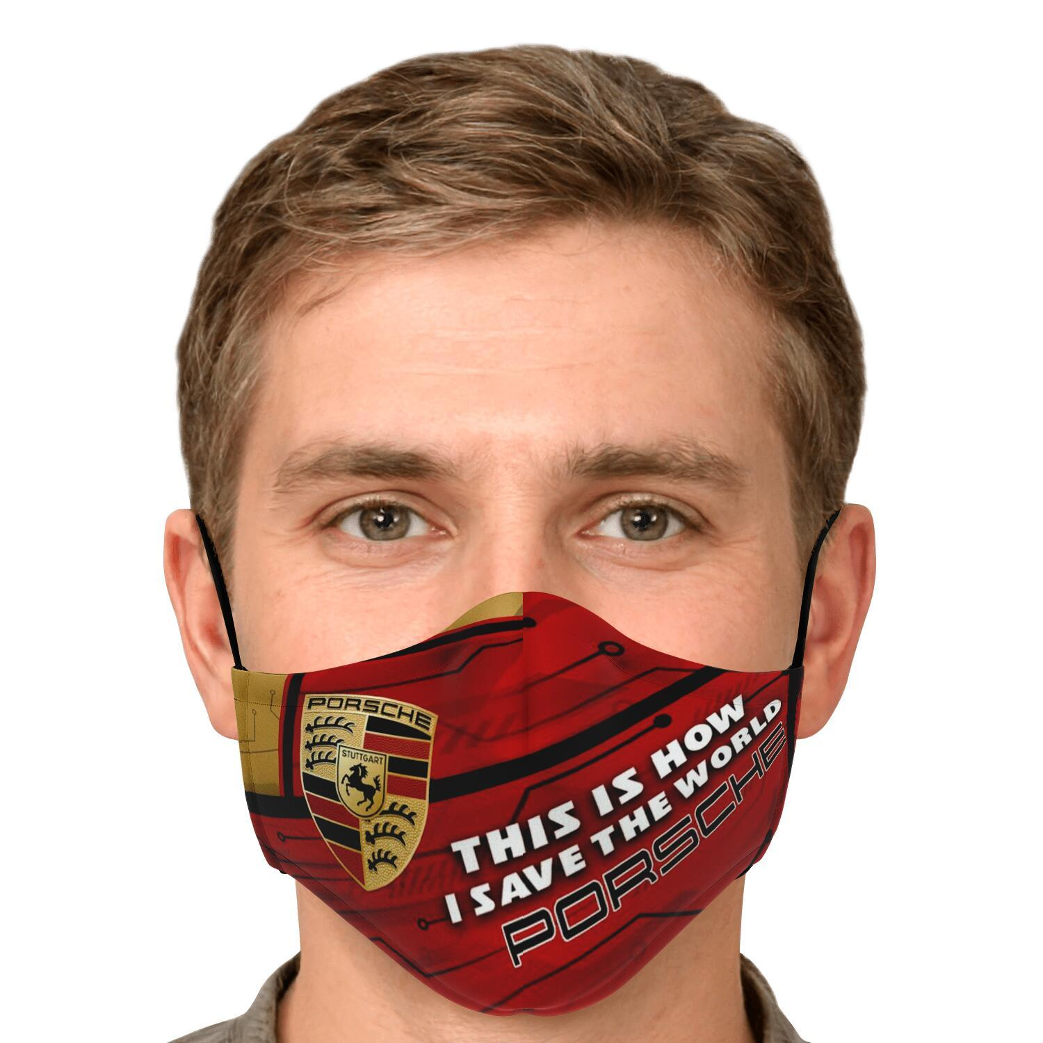 This Is How I Save The World Porsche Face Masks 4