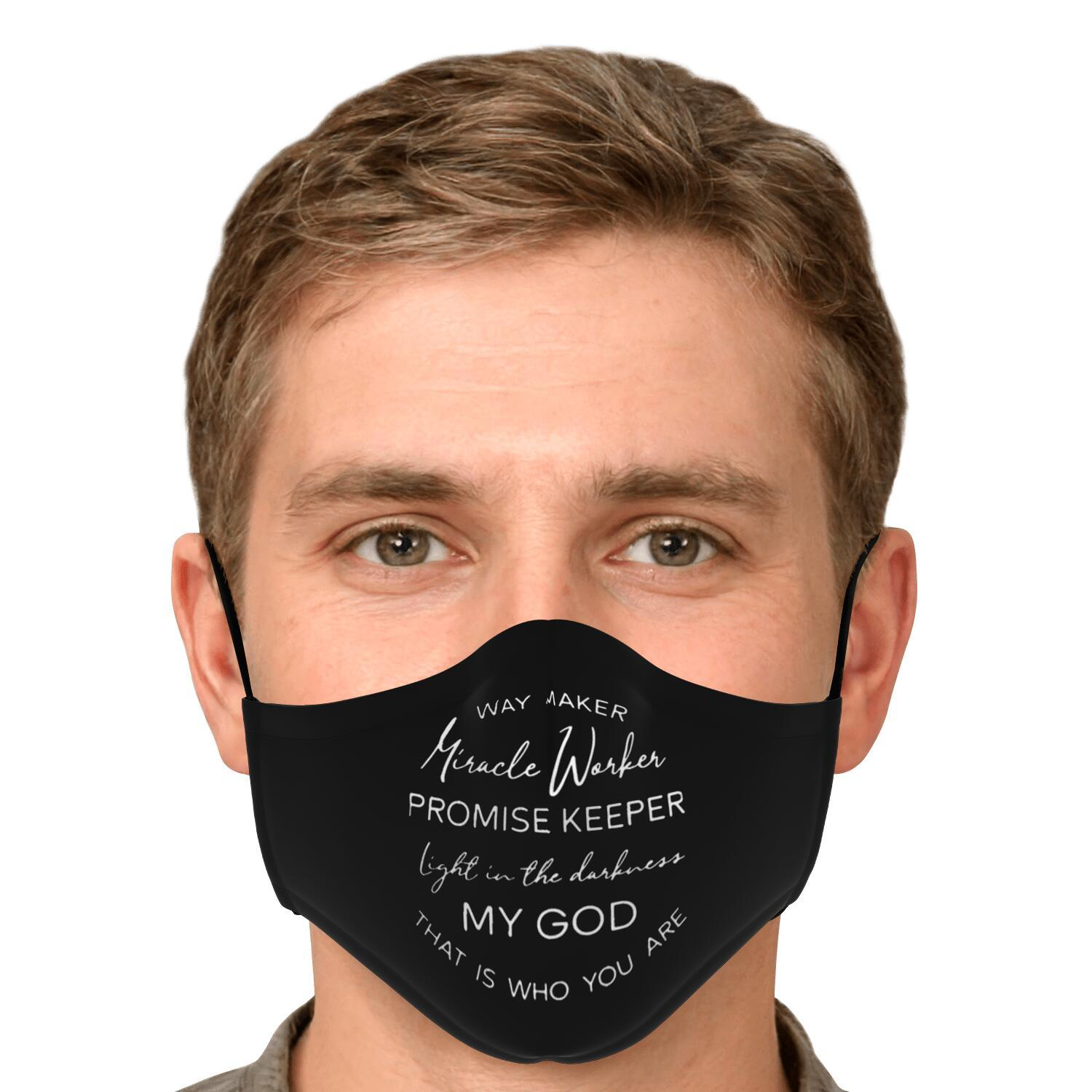 Way Maker Miracle Workers Promise Keeper Face Mask 4