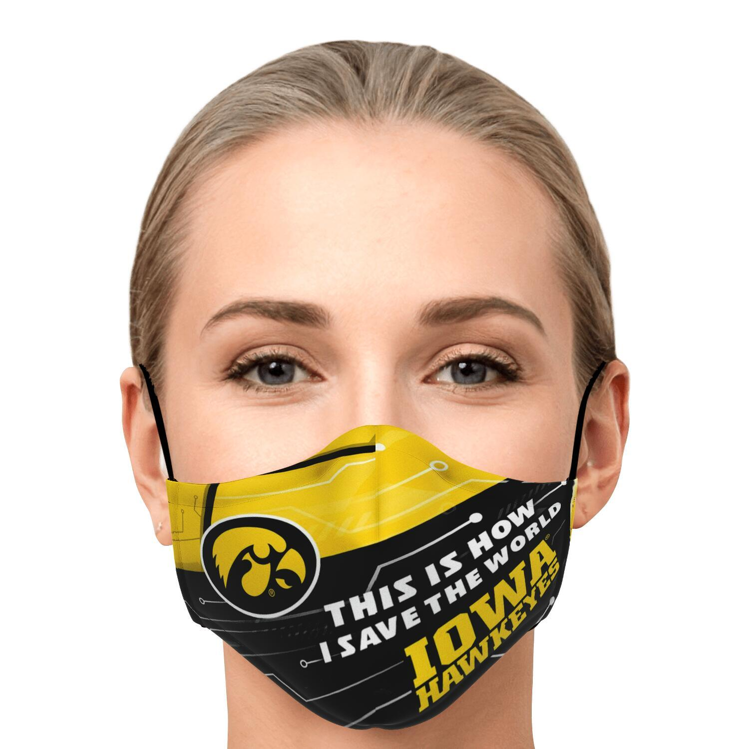 This Is How I Save The World Iowa Hawkeyes Face Masks 1