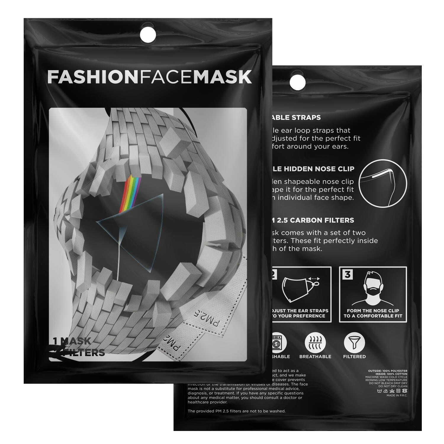 Pink Floyd The Wall Dark Side Of The Moon Face Mask 2