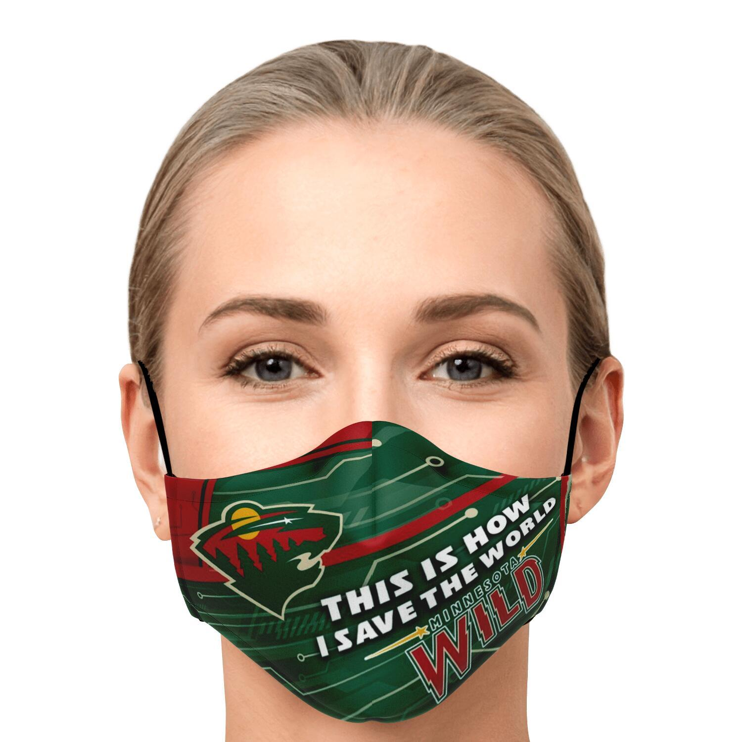 This Is How I Save The World Minnesota Wild Face Masks 1