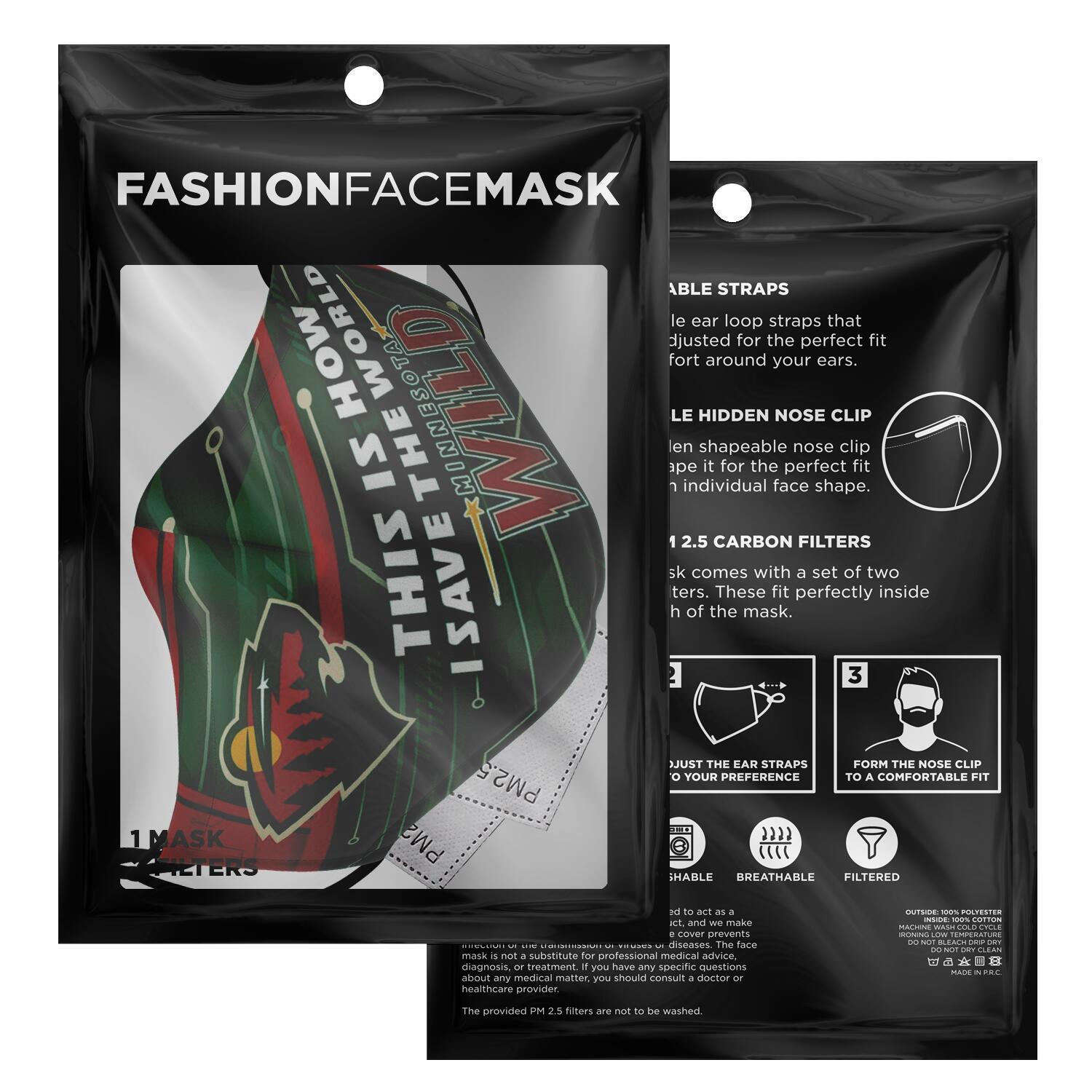 This Is How I Save The World Minnesota Wild Face Masks 2