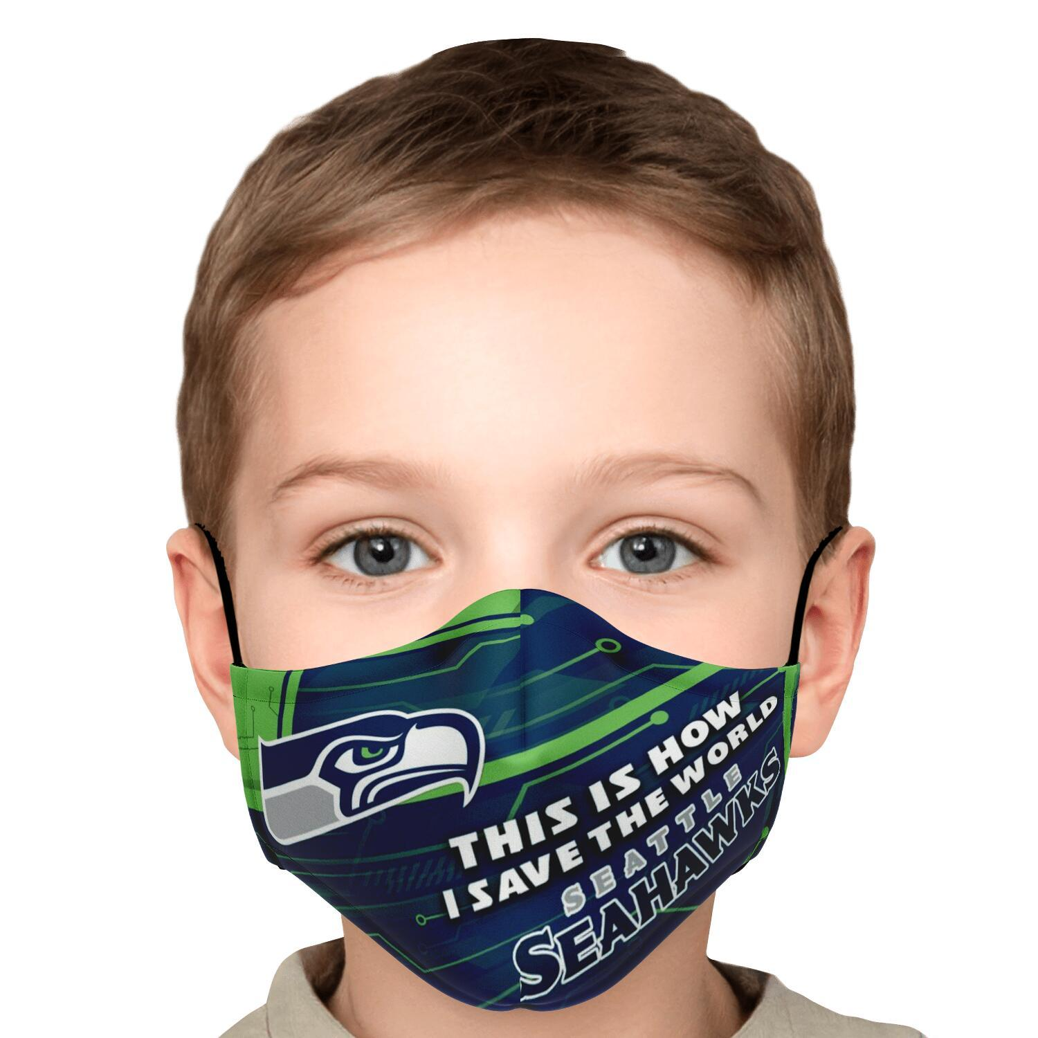 This Is How I Save The World Seattle Seahawks Face Masks 5