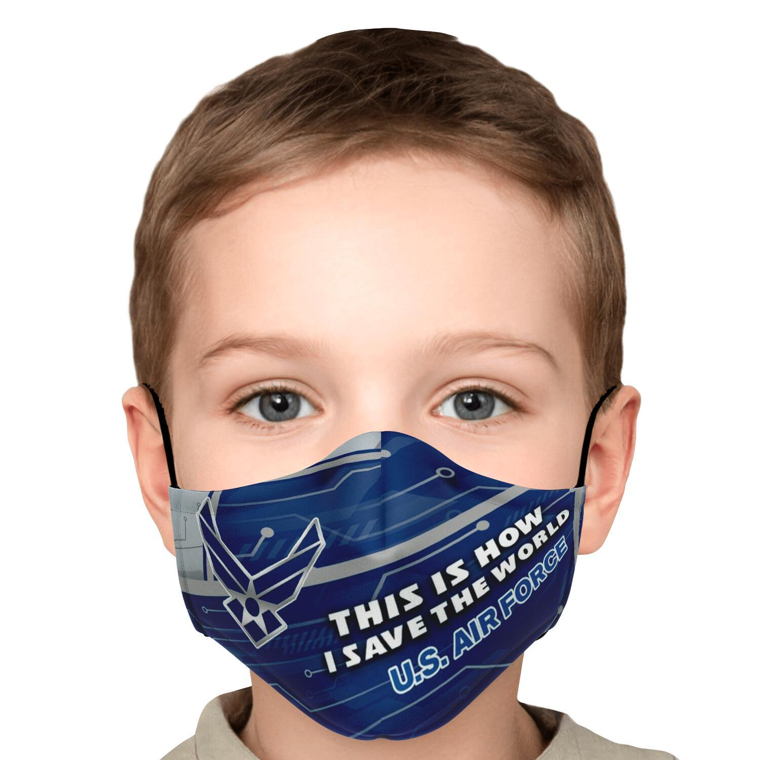 This Is How I Save The World U.S. Air Force Face Masks 5