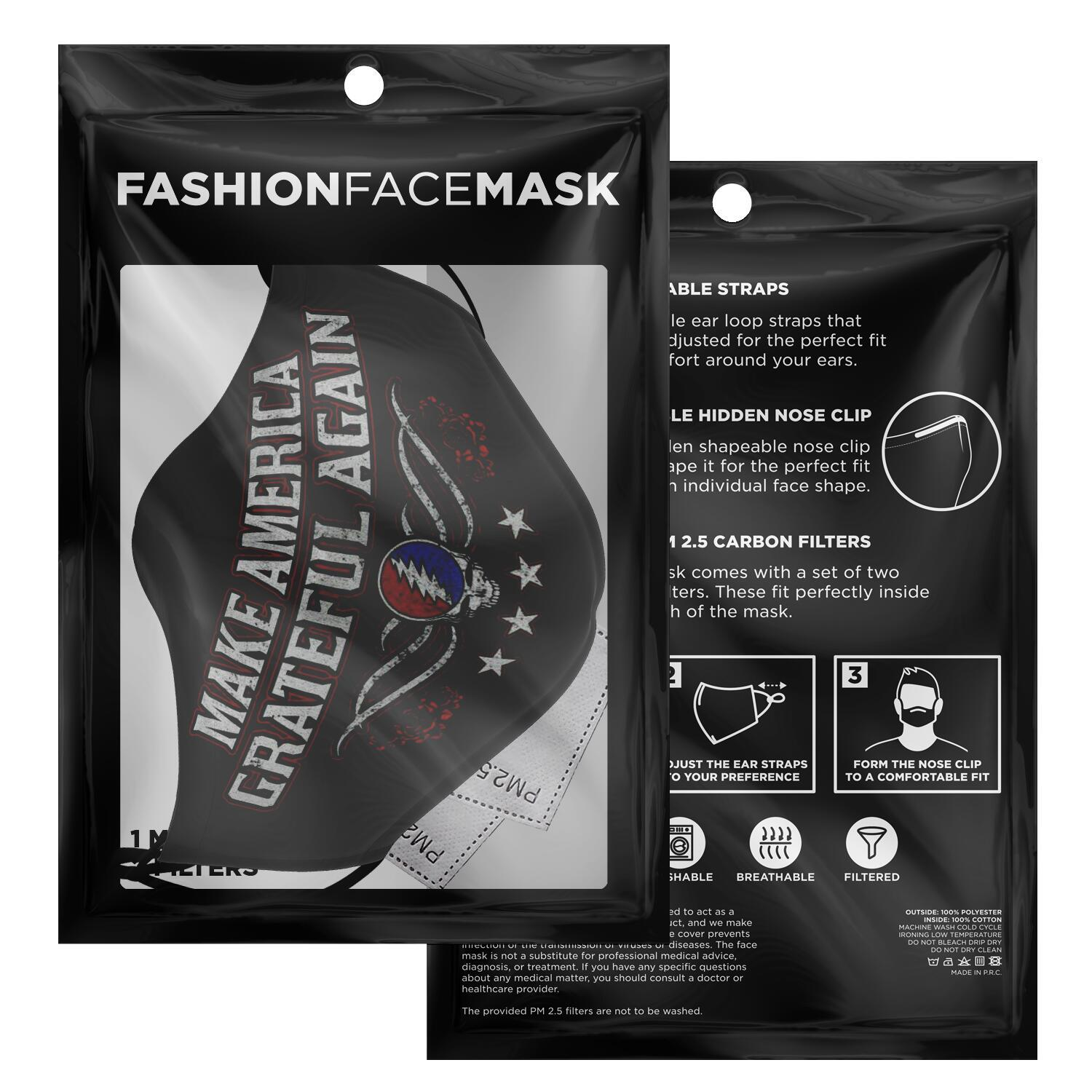 Grateful Dead Make America Grateful Again Face Mask 2