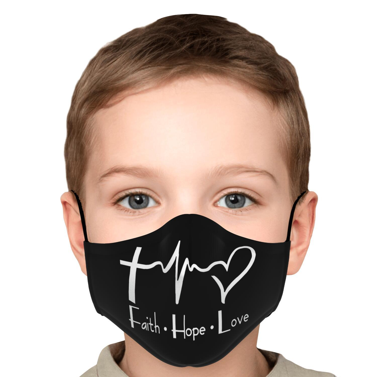 Faith Hope And Love Face Mask 5