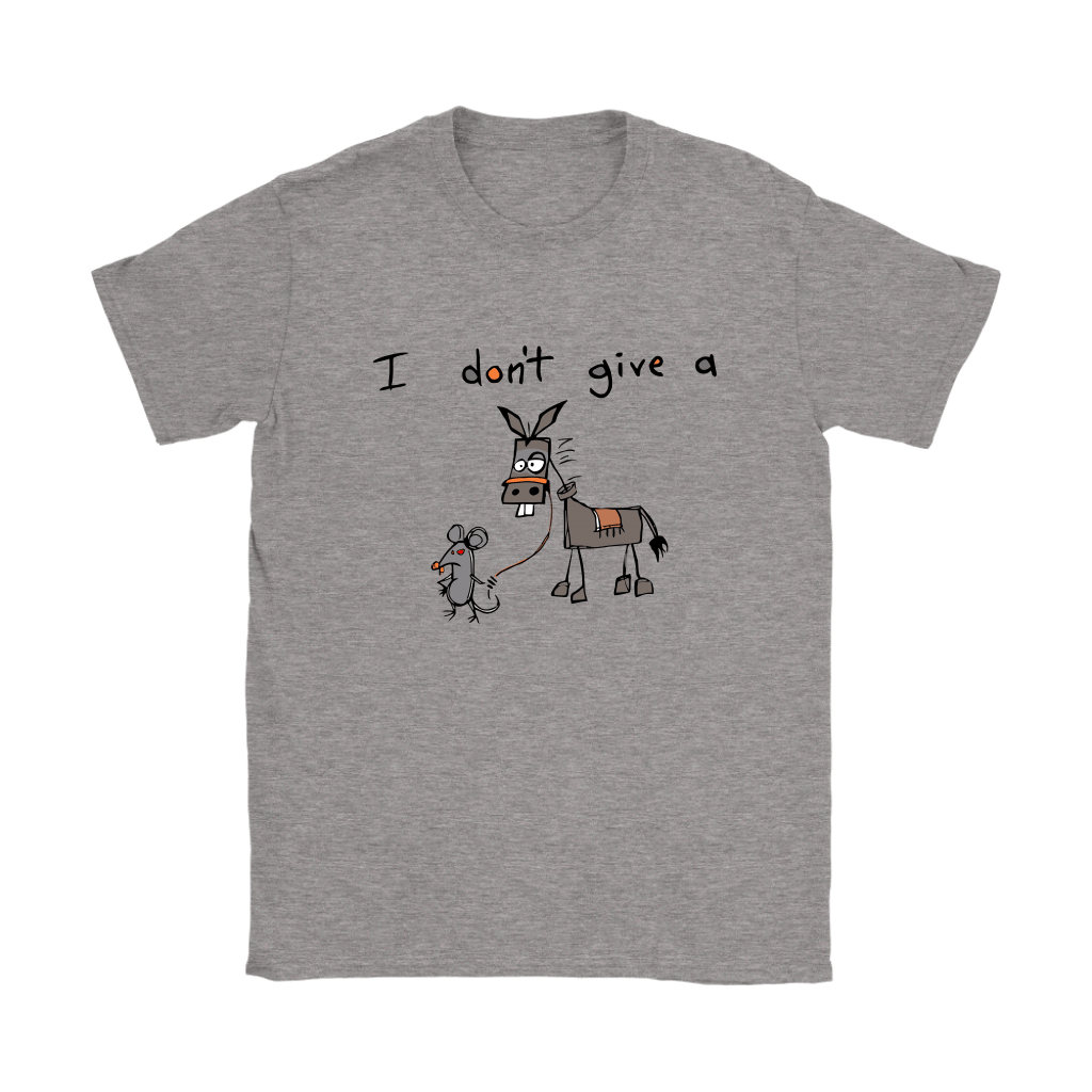 I Don't Give A Mouse Walking A Donkey Shirts 9