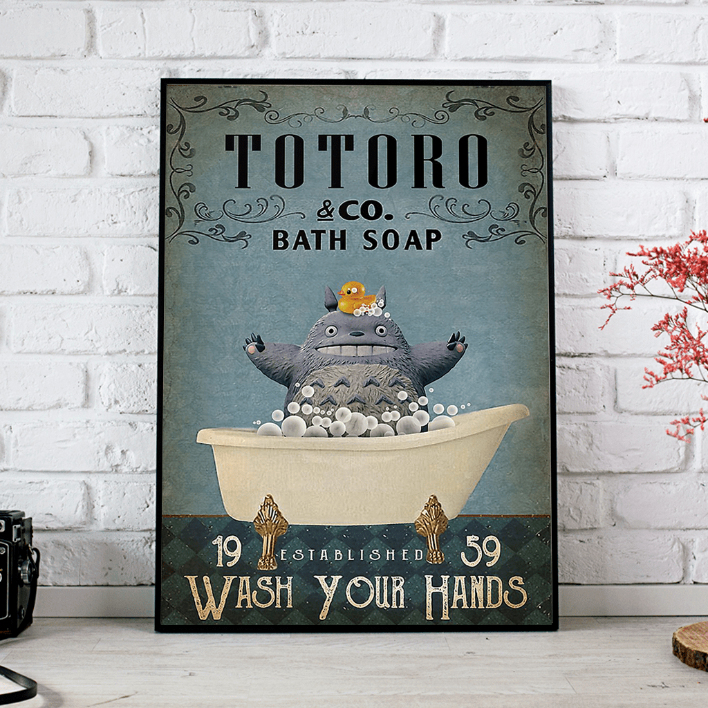 Totoro Wash Your Hands Poster 1