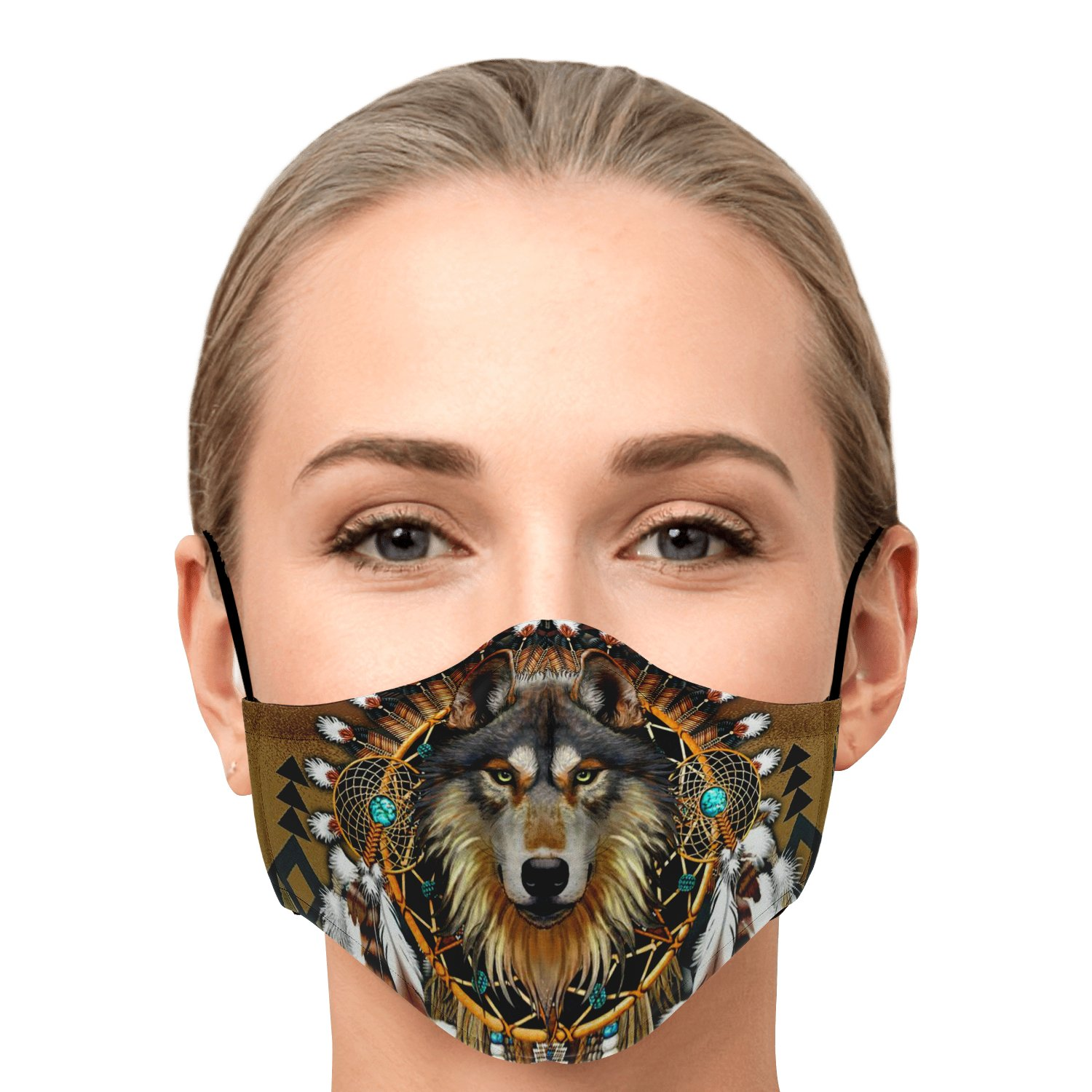 Wolf Leader Navtive American Face Mask 1