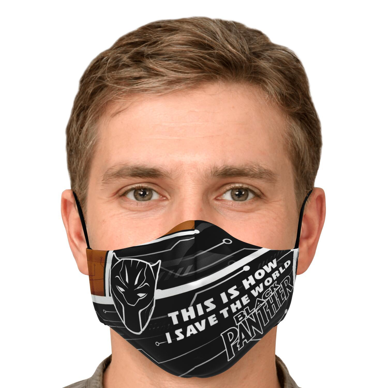 This Is How I Save The World Black Panther Face Masks 4