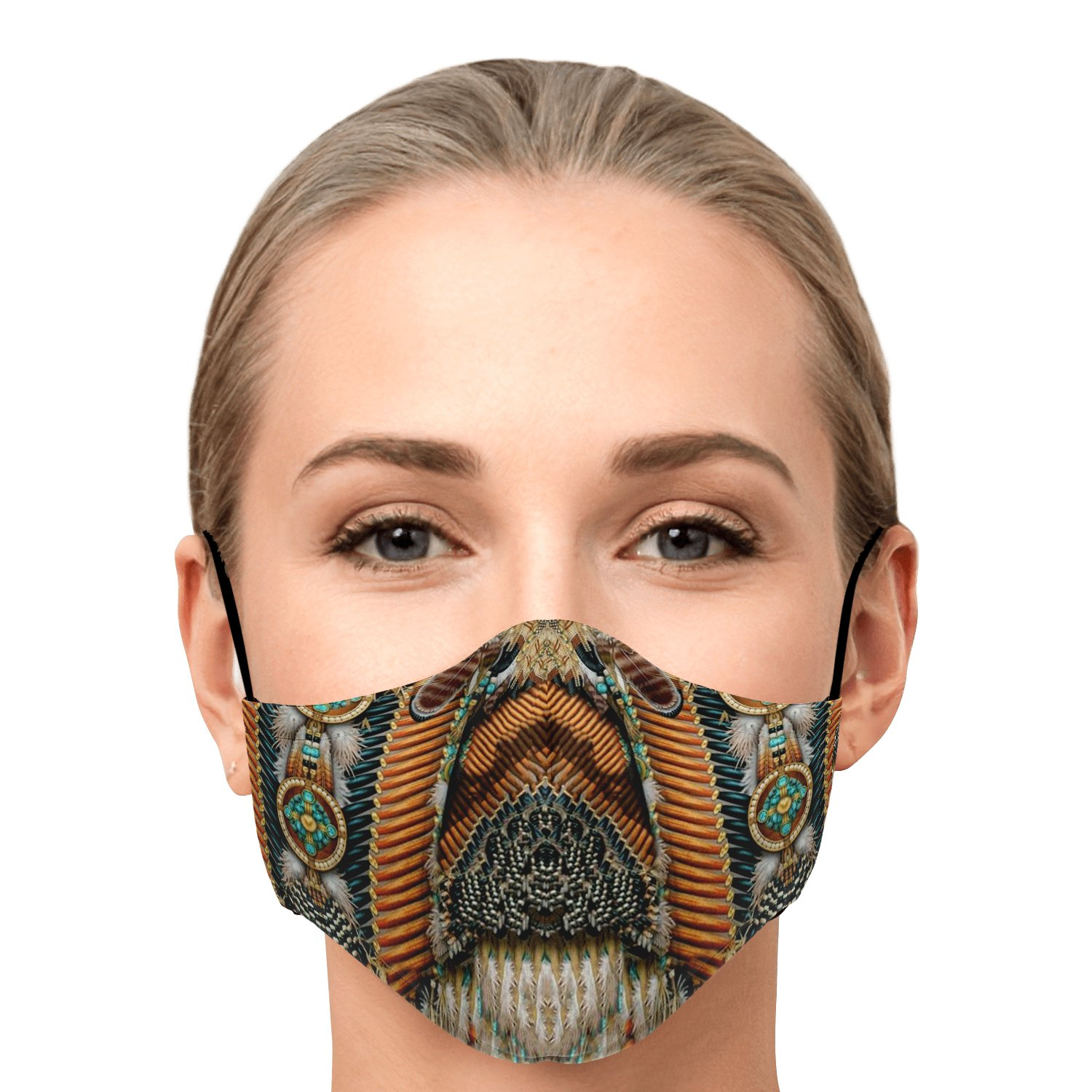 Land Of Peace Native American Face Mask 1