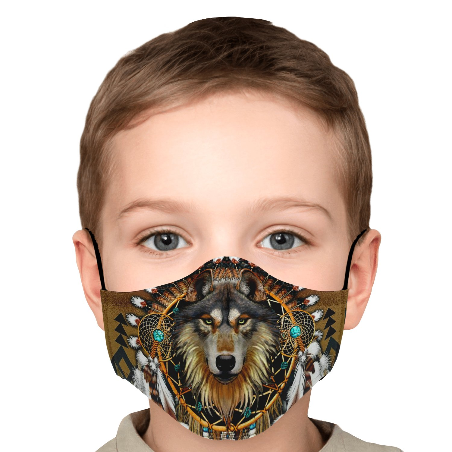 Wolf Leader Navtive American Face Mask 6