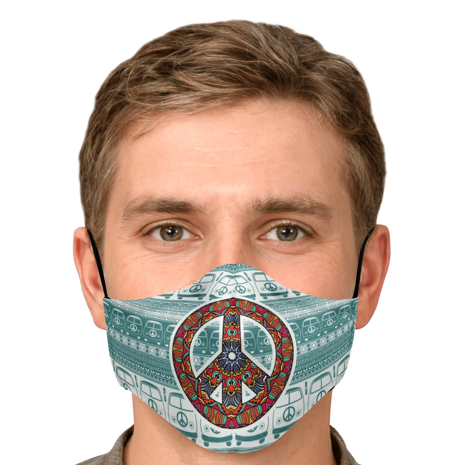 Hippie Van Volkswagen Peace And Love Face Mask 11